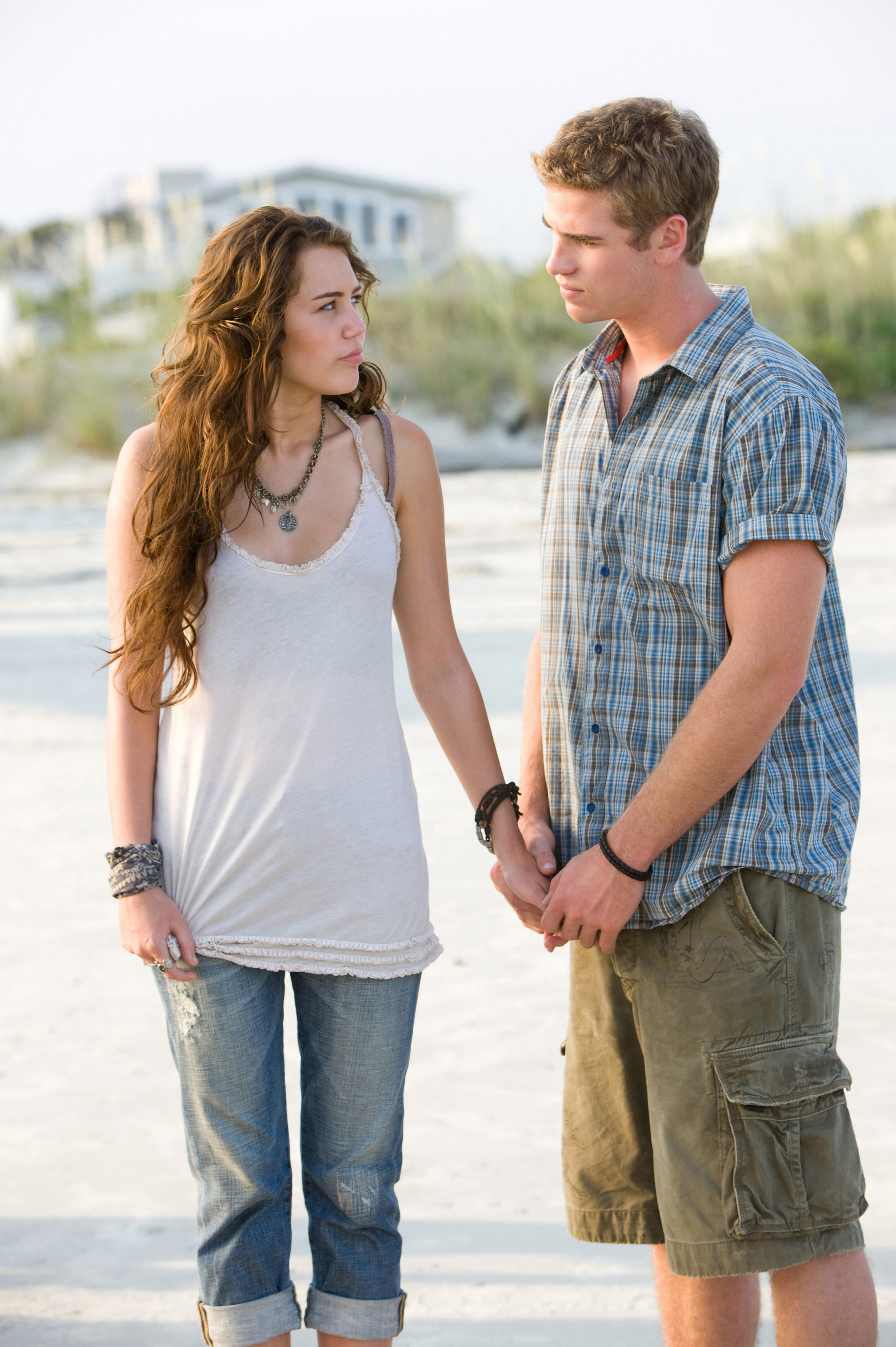 """Miley Cyrus and Liam Hemsworth appear in the 2010 movie """"The Last Song."""""""