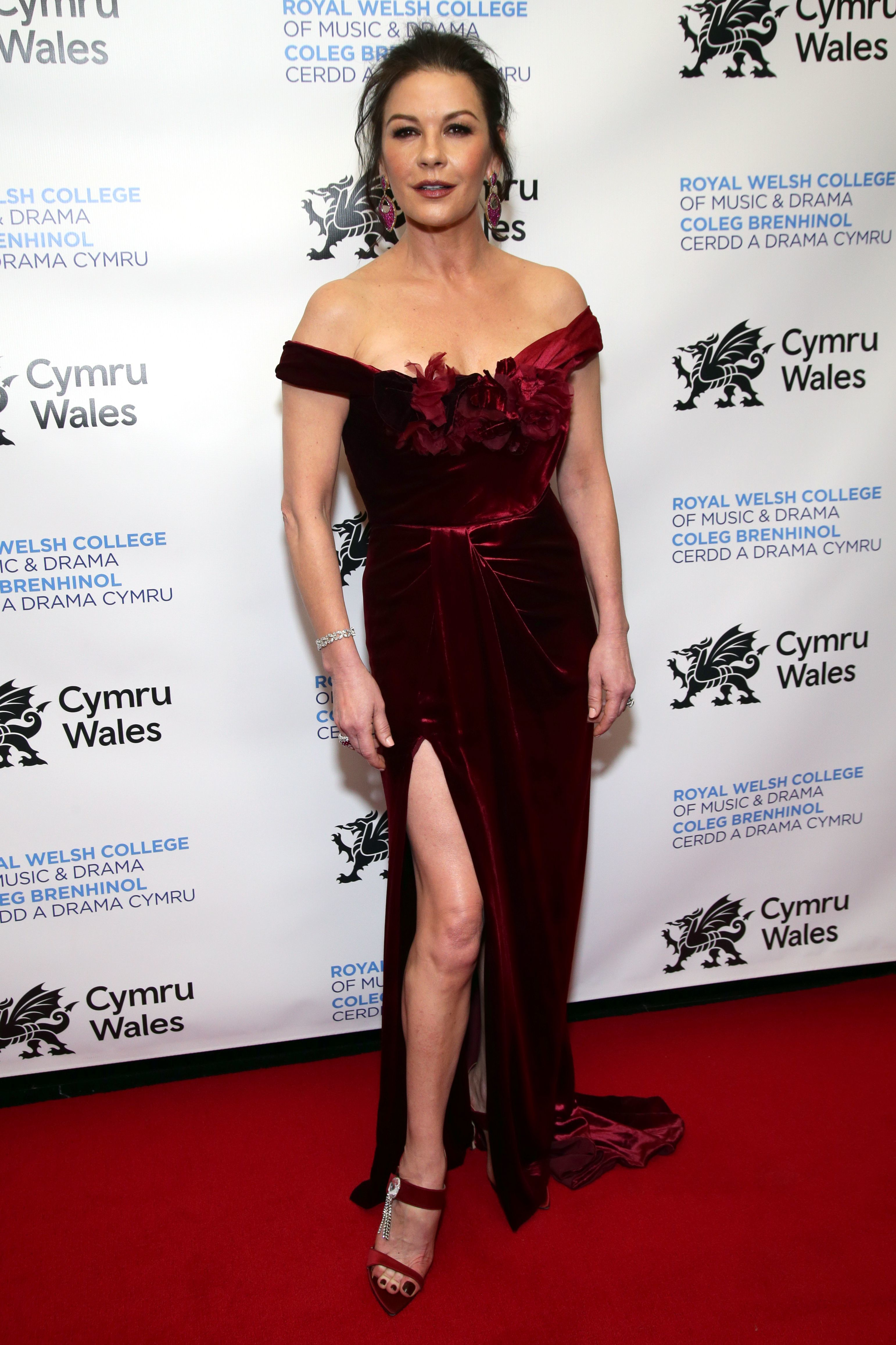Catherine Zeta Jones attends Wales' National Day Gala hosted by The Royal Welsh College of Music and Drama in New York City on March 1, 2019.