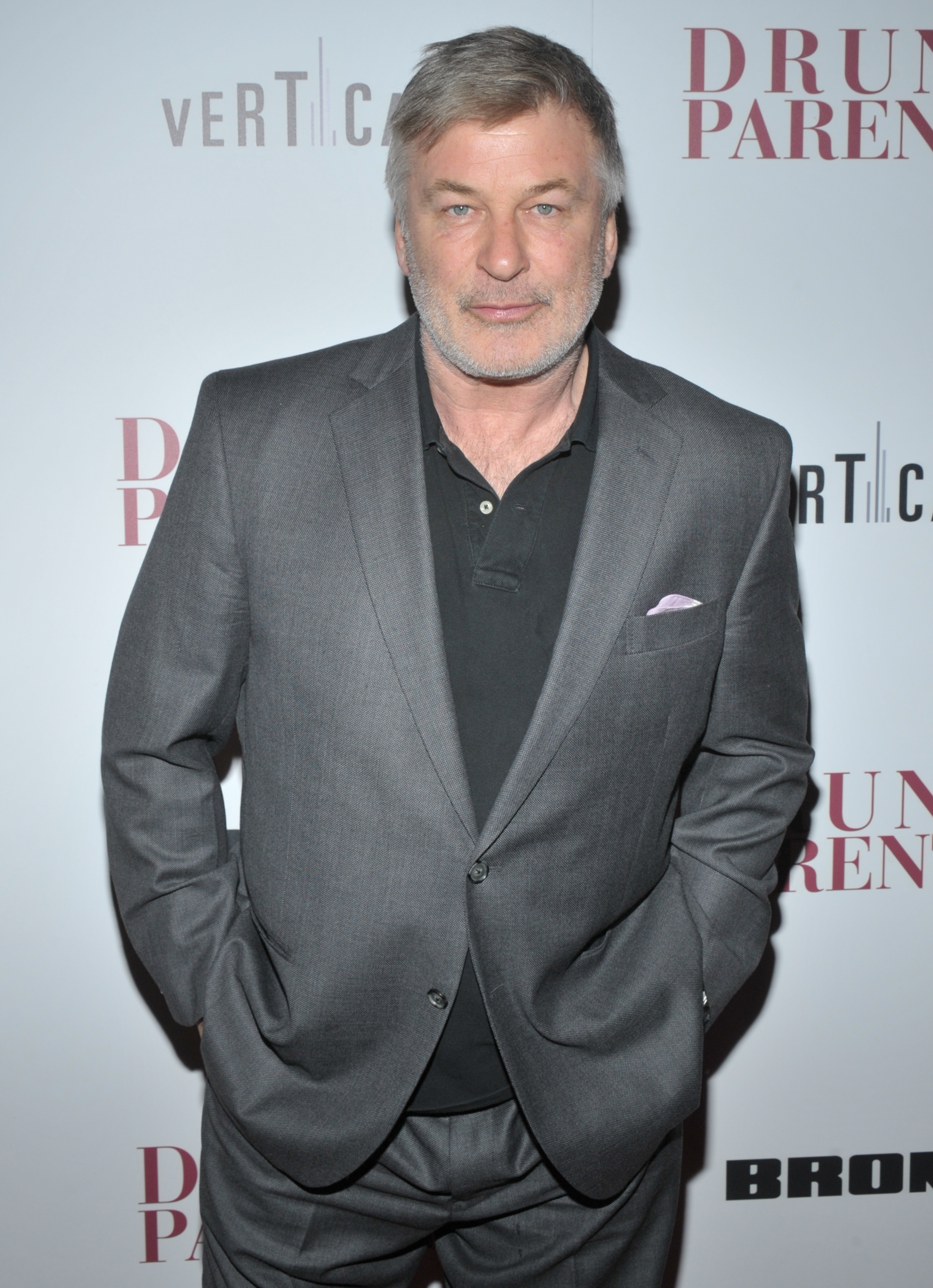 """Alec Baldwin attends the """"Drunk Parents"""" film premiere in New York City on March 4, 2019."""