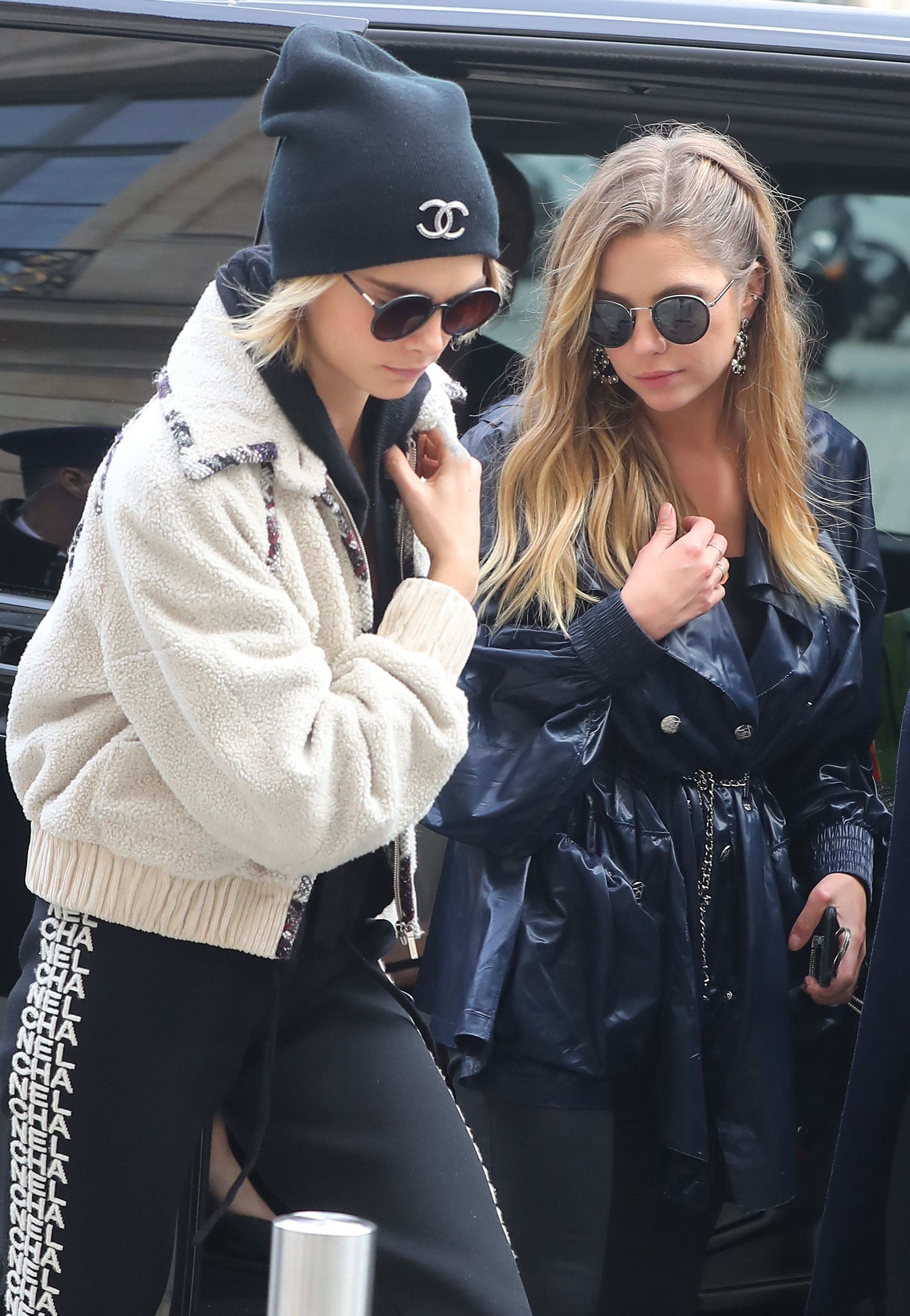 Ashley Benson comforts girlfriend Cara Delevingne after Chanel show