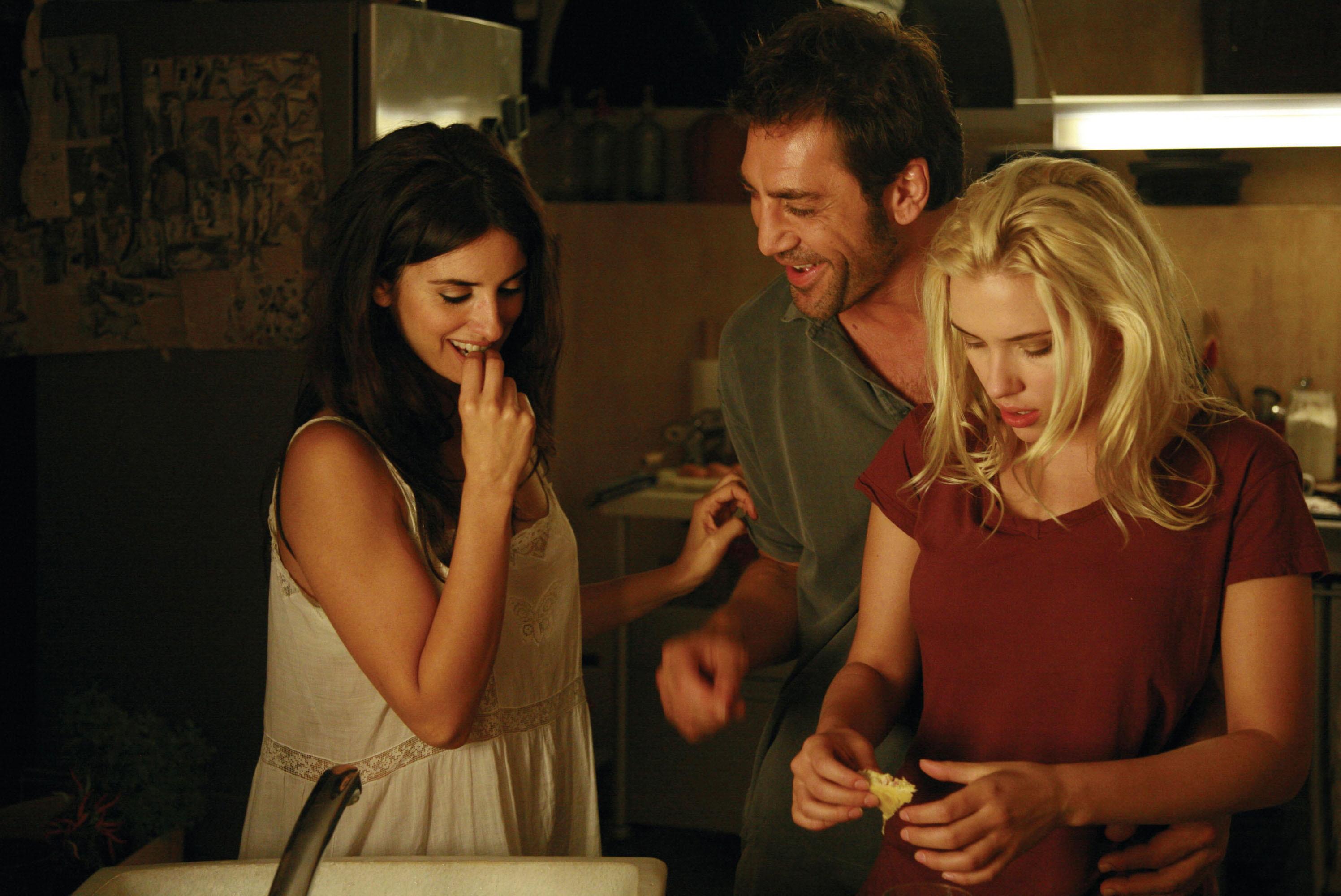 """Penelope Cruz, Javier Bardem, Scarlett Johansson in """"Vicky Cristina Barcelona."""""""