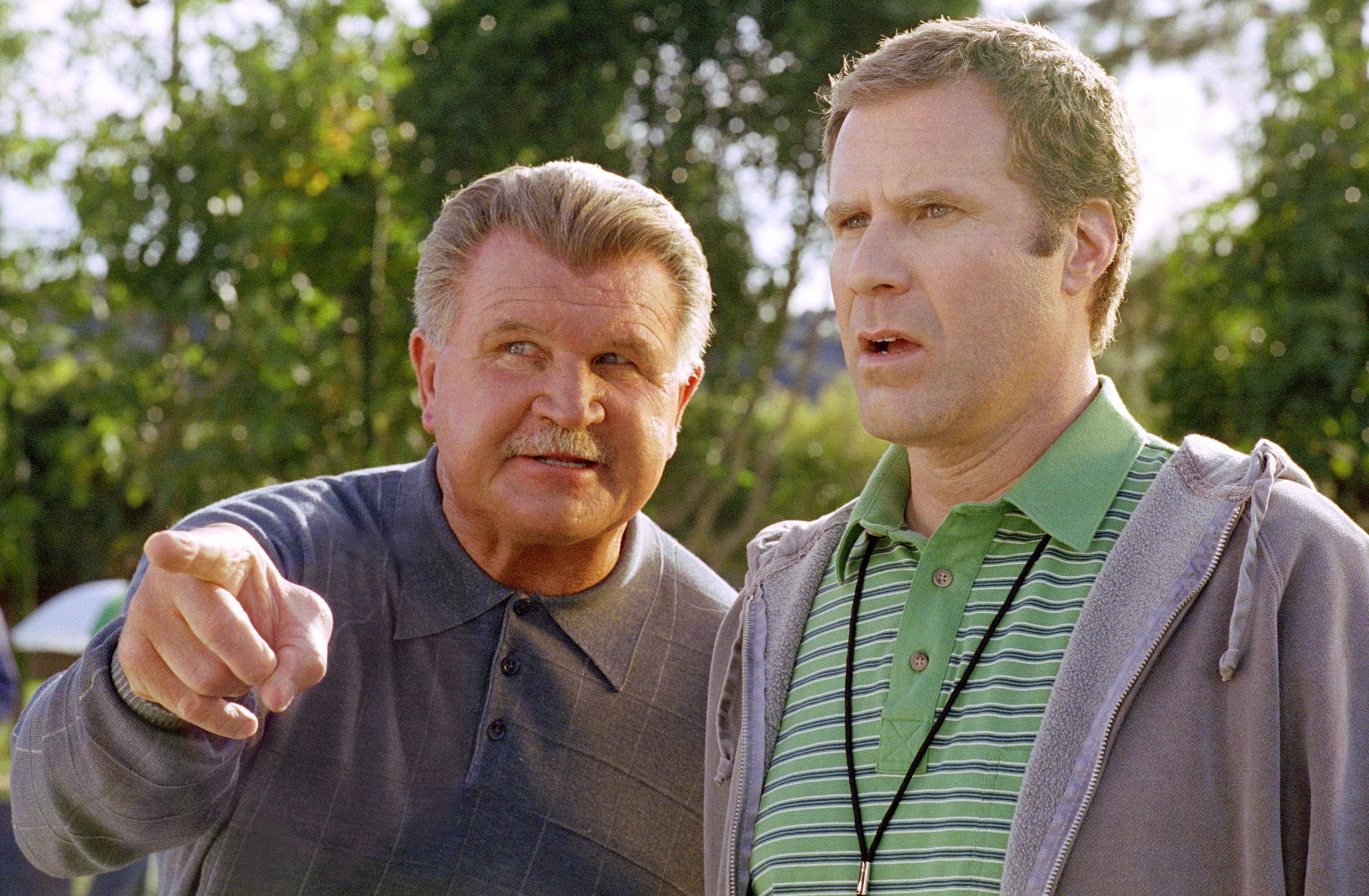 """Mike Ditka and Will Ferrell in 2005's """"Kicking & Screaming."""""""