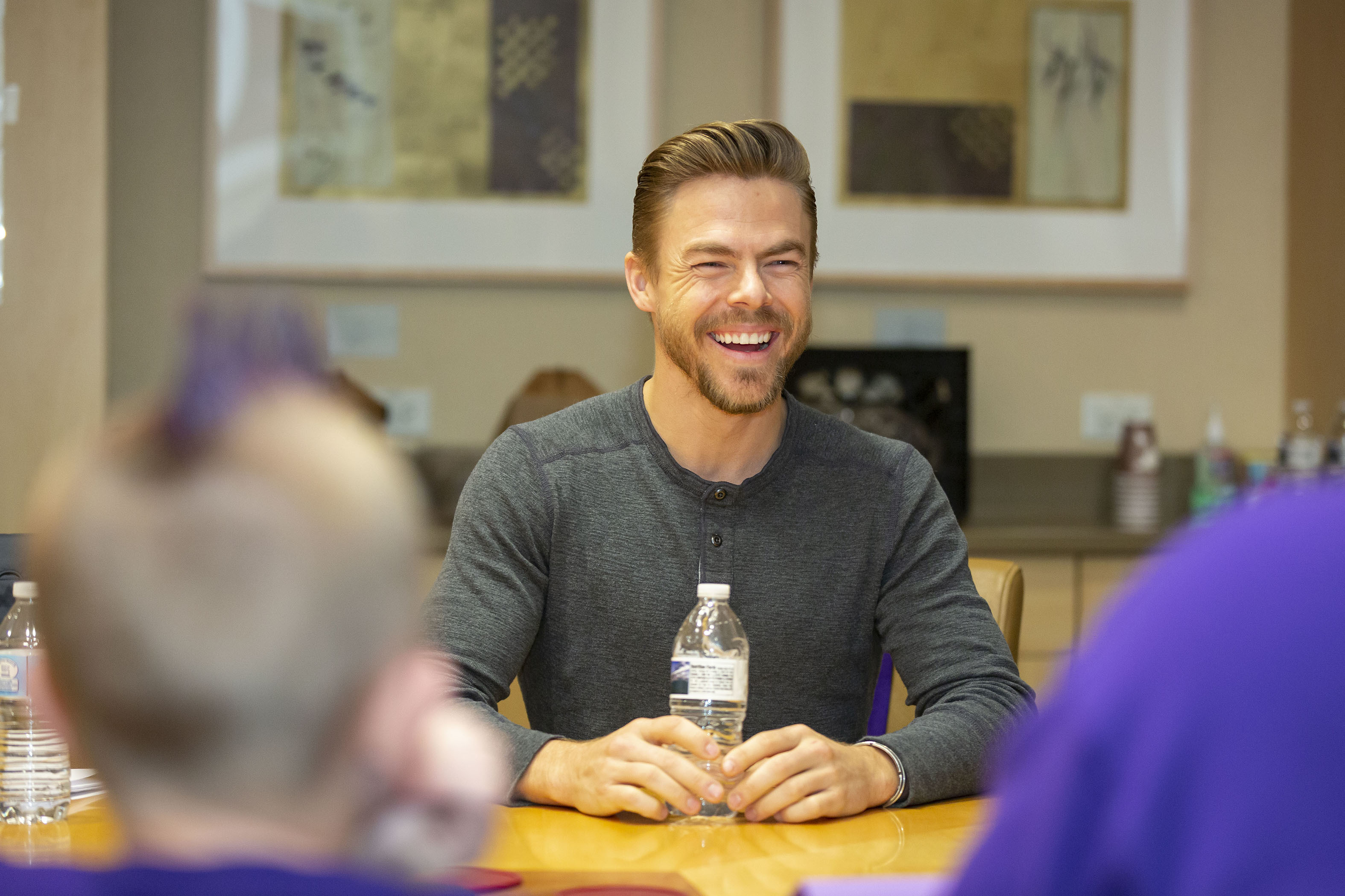 Derek Hough teams up with U.S. Cellular to honor a recipient of the The Future of Good 16 Under 16 initiative in Madison, Wisconsin, on March 9, 2019.