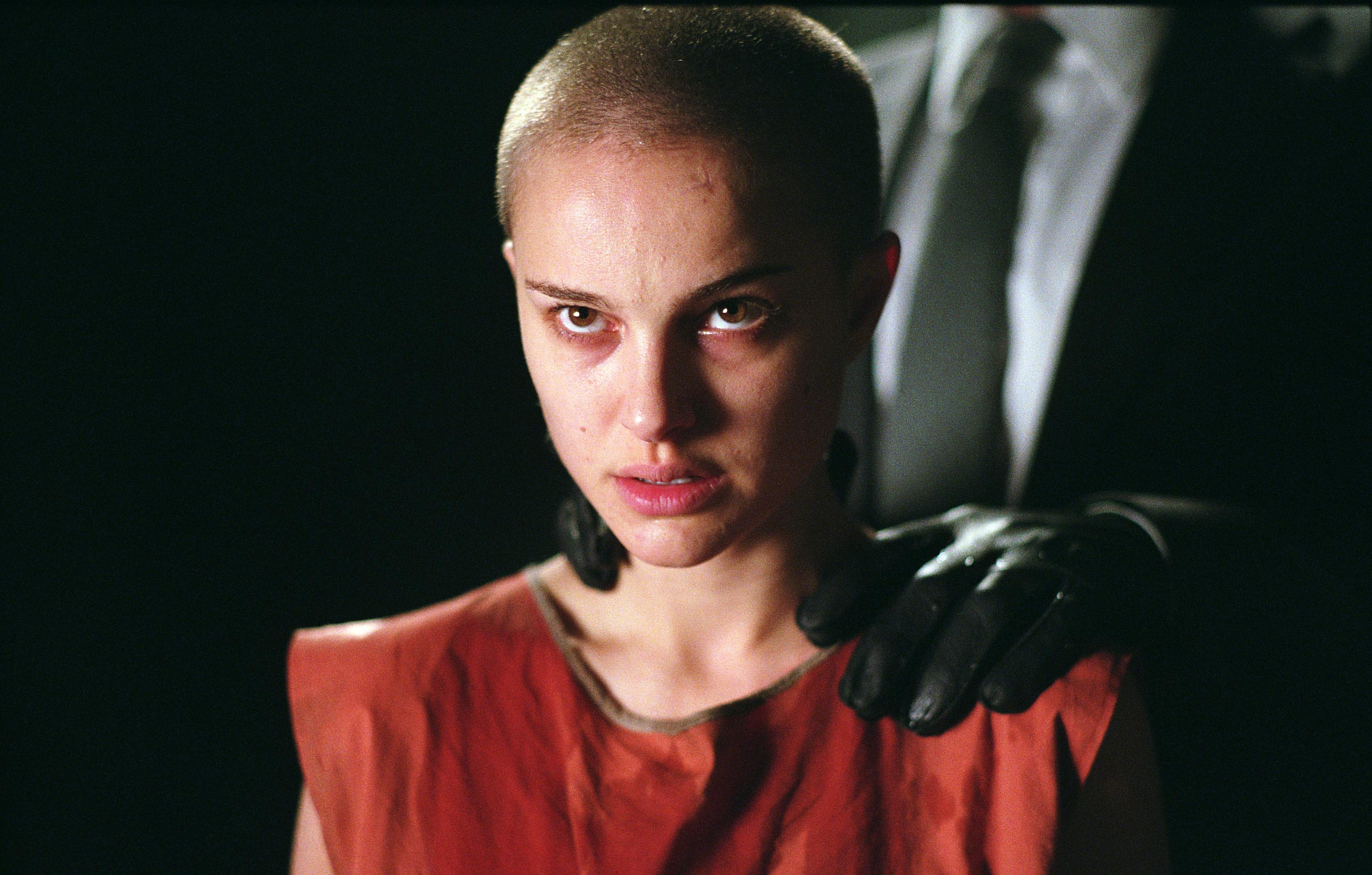 "Natalie Portman stars in 2005's ""V For Vendetta."""