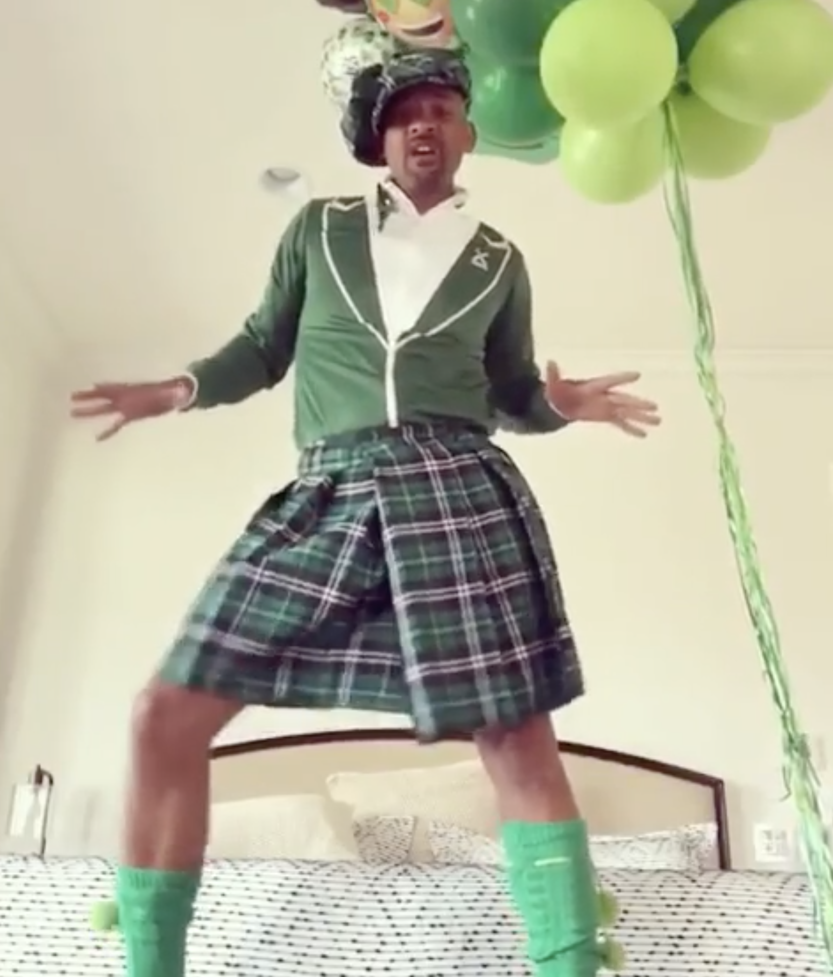 """I just saw my post from last year... smh... My Bad.""   Will Smith, who posted this video on Instagram on March 17, 2019    the same thing he posted on St. Patrick's Day the previous year"