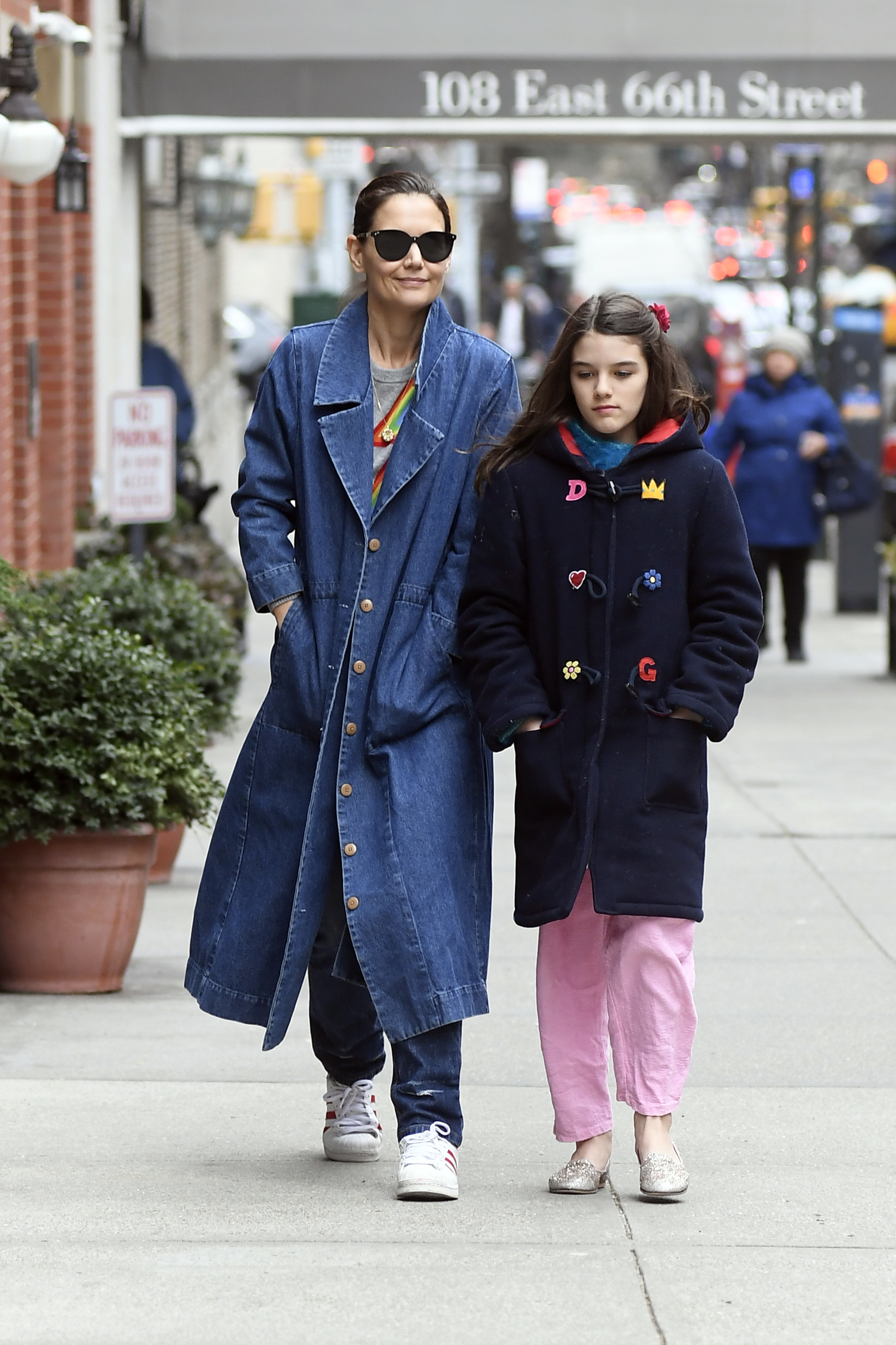 Katie Holmes and Suri Cruise were spotted out running errands in New York City on March 15, 2019.