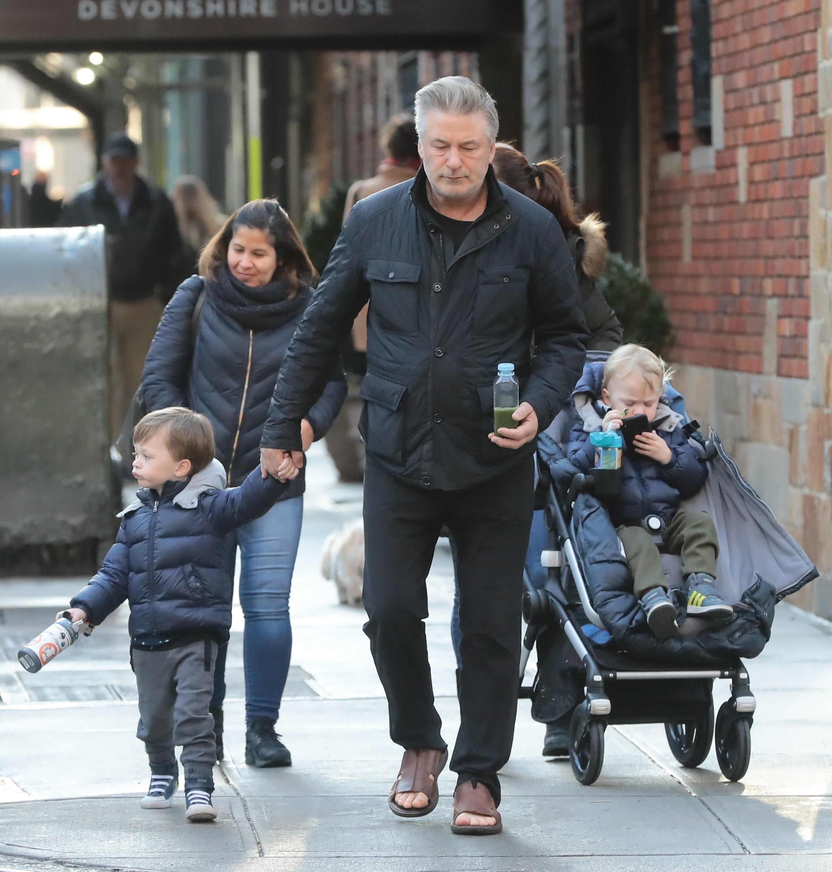 Alec Baldwin appeared to be on daddy duty while out running errands with his sons Leonardo and Rafael in New York City on March 14, 2019.