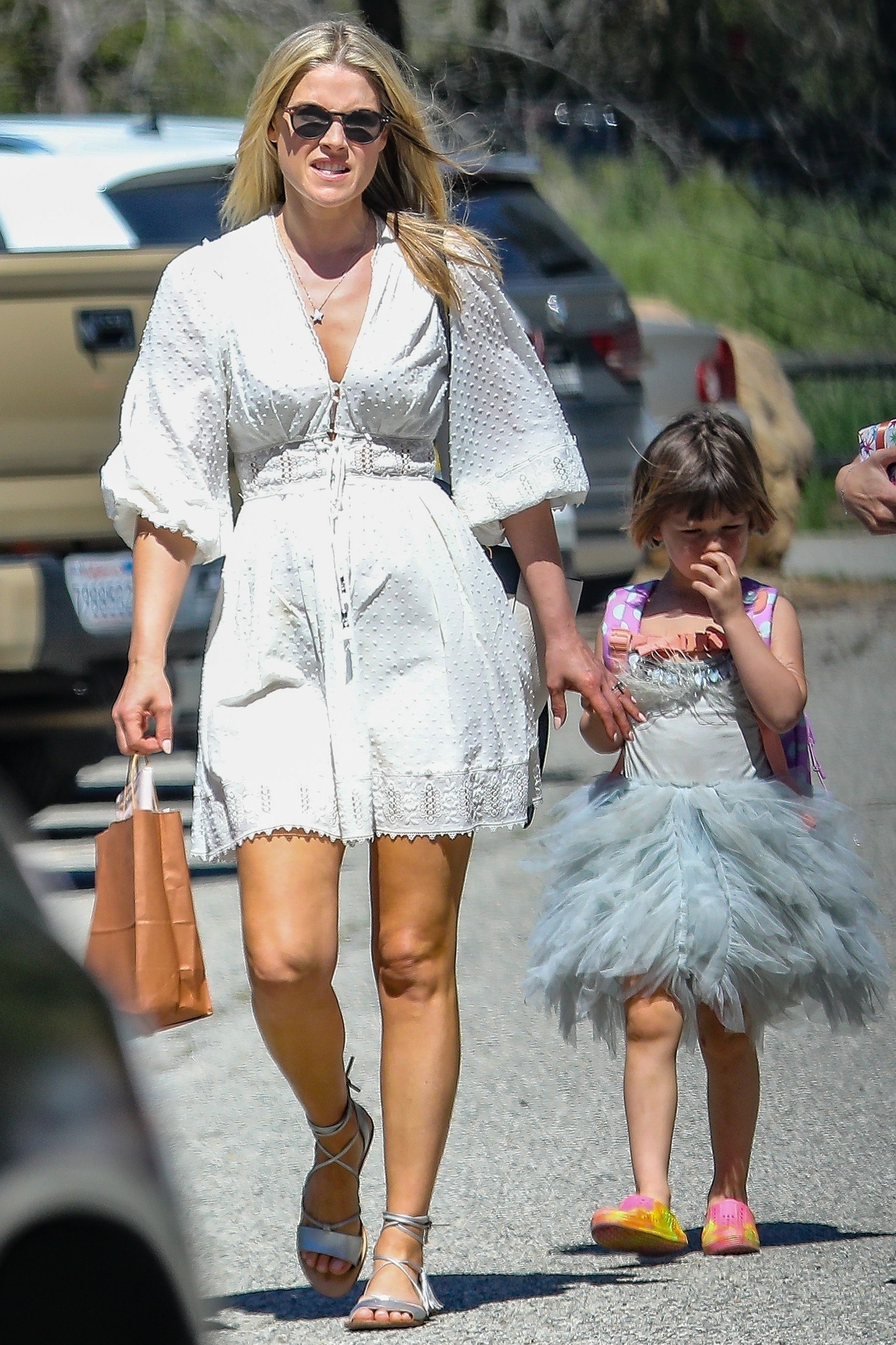 Ali Larter was spotted taking her daughter Vivienne to a party in Los Angeles, CA on March 17, 2019.