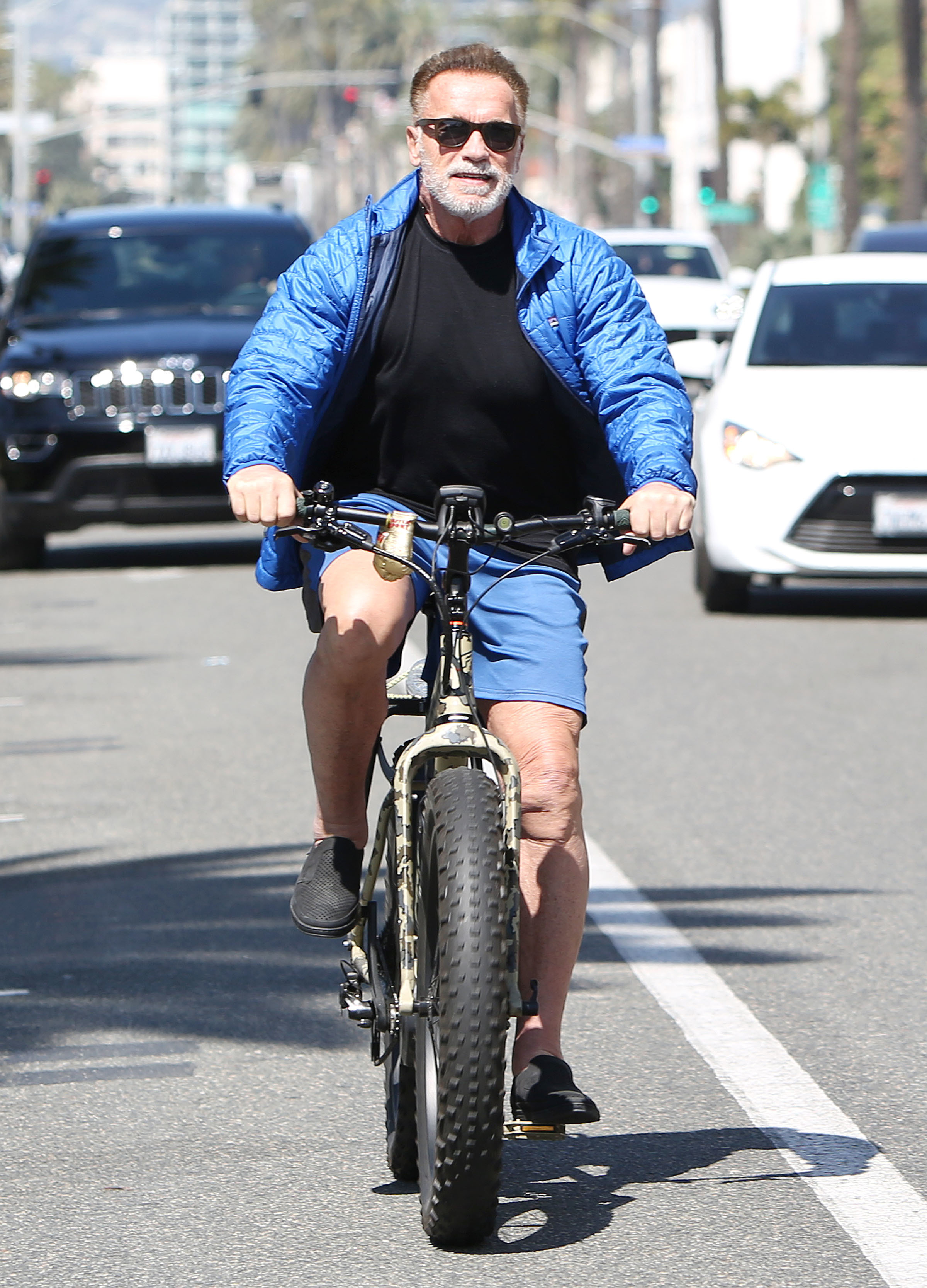Arnold Schwarzenegger is spotted out and about in Los Angeles on March 18, 2019.