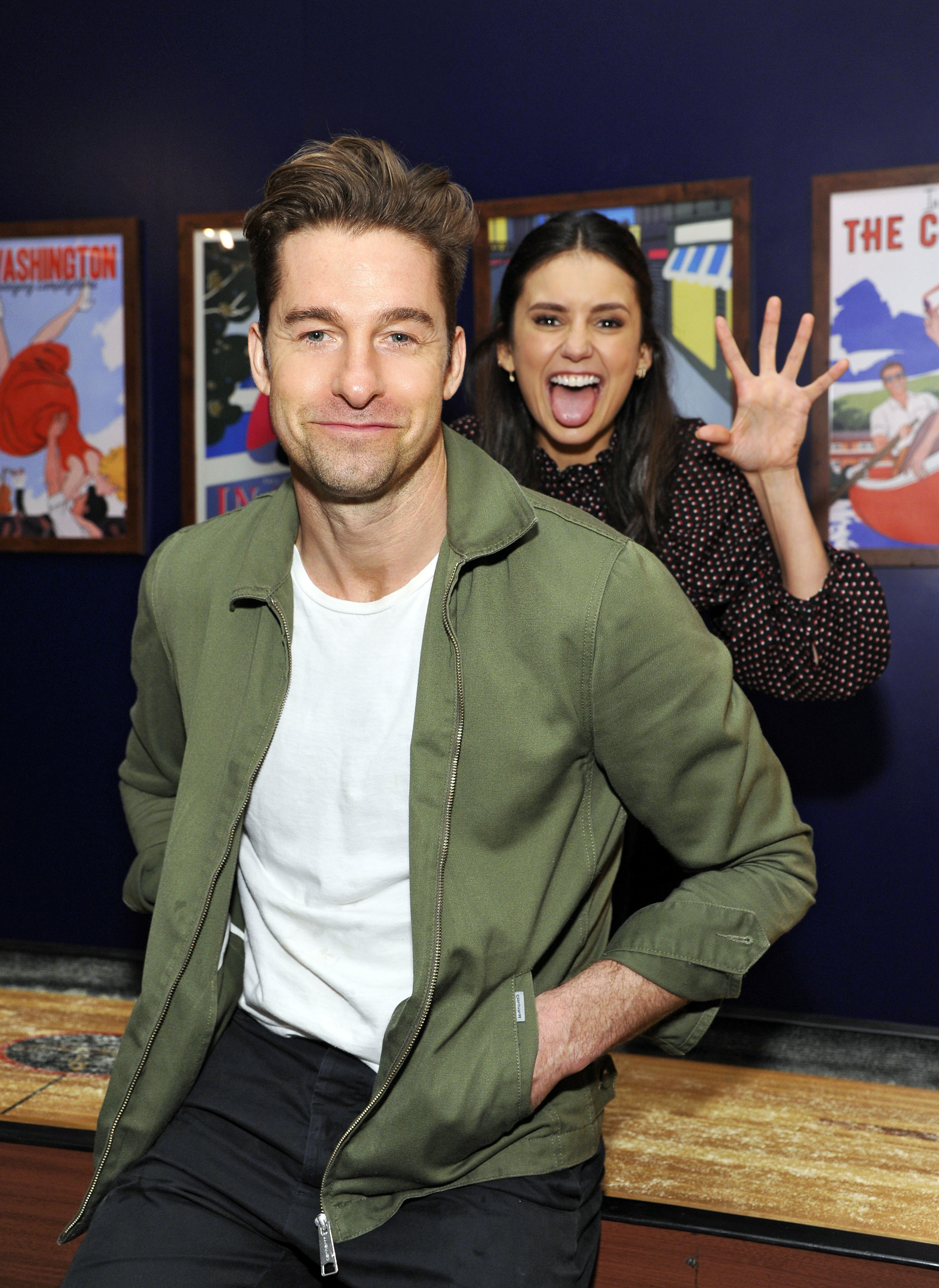 Nina Dobrev and Scott Speedman attend the Prime Video Blue Room during the SXSW Festival in Austin, Texas, on March 10, 2019.