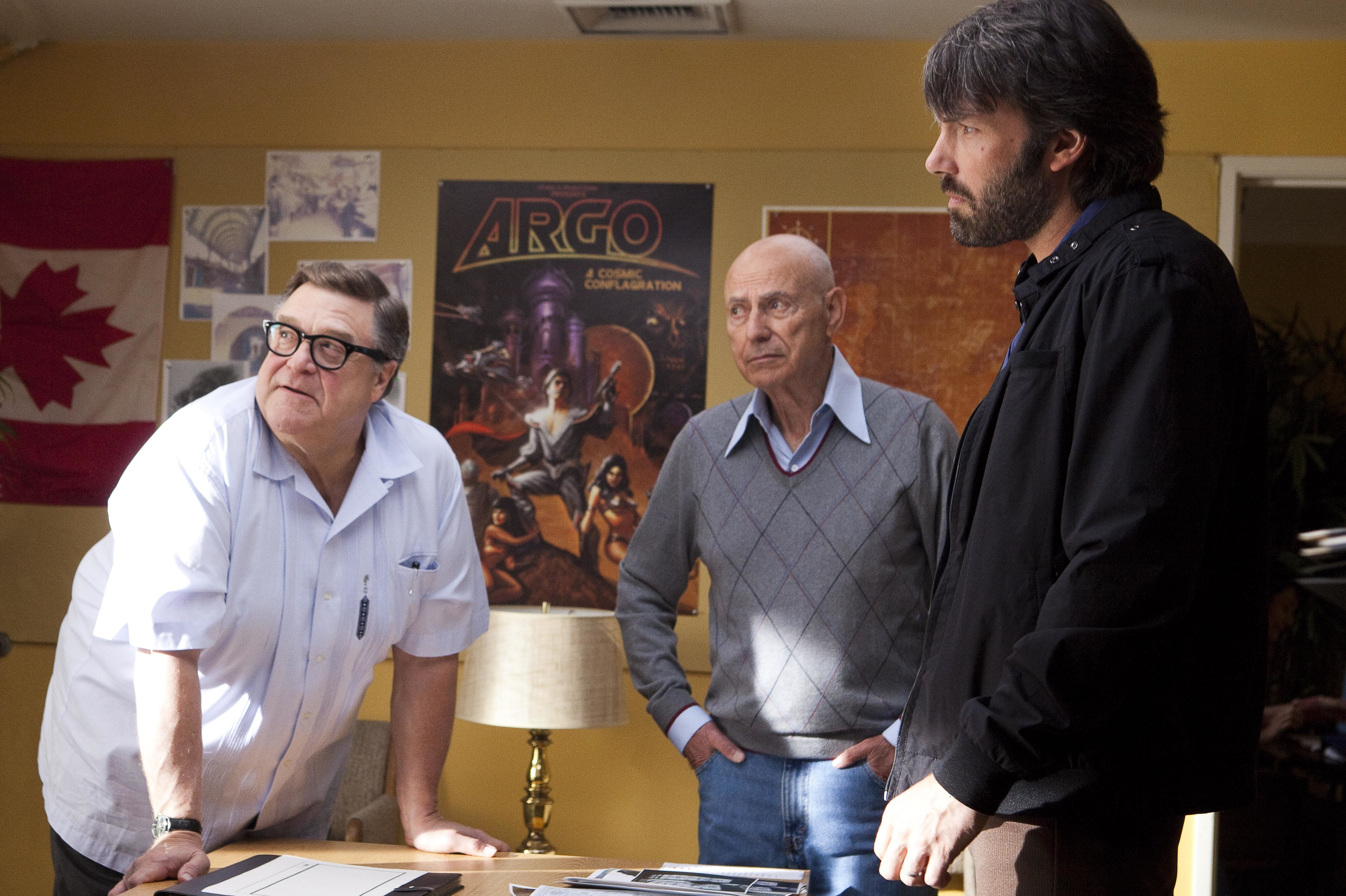 "John Goodman, Alan Arkin and Ben Affleck star in 2012's ""Argo."""