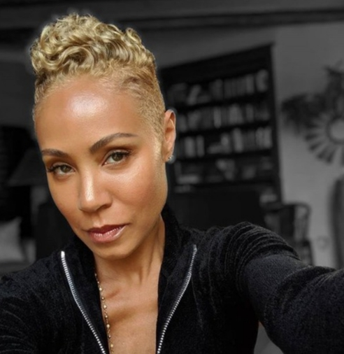 """""""When that Sandy blonde drip you use to rock in the 90's still goes hard✨""""   Jada Pinkett Smith, who shared this on Instagram on March 20, 2019"""