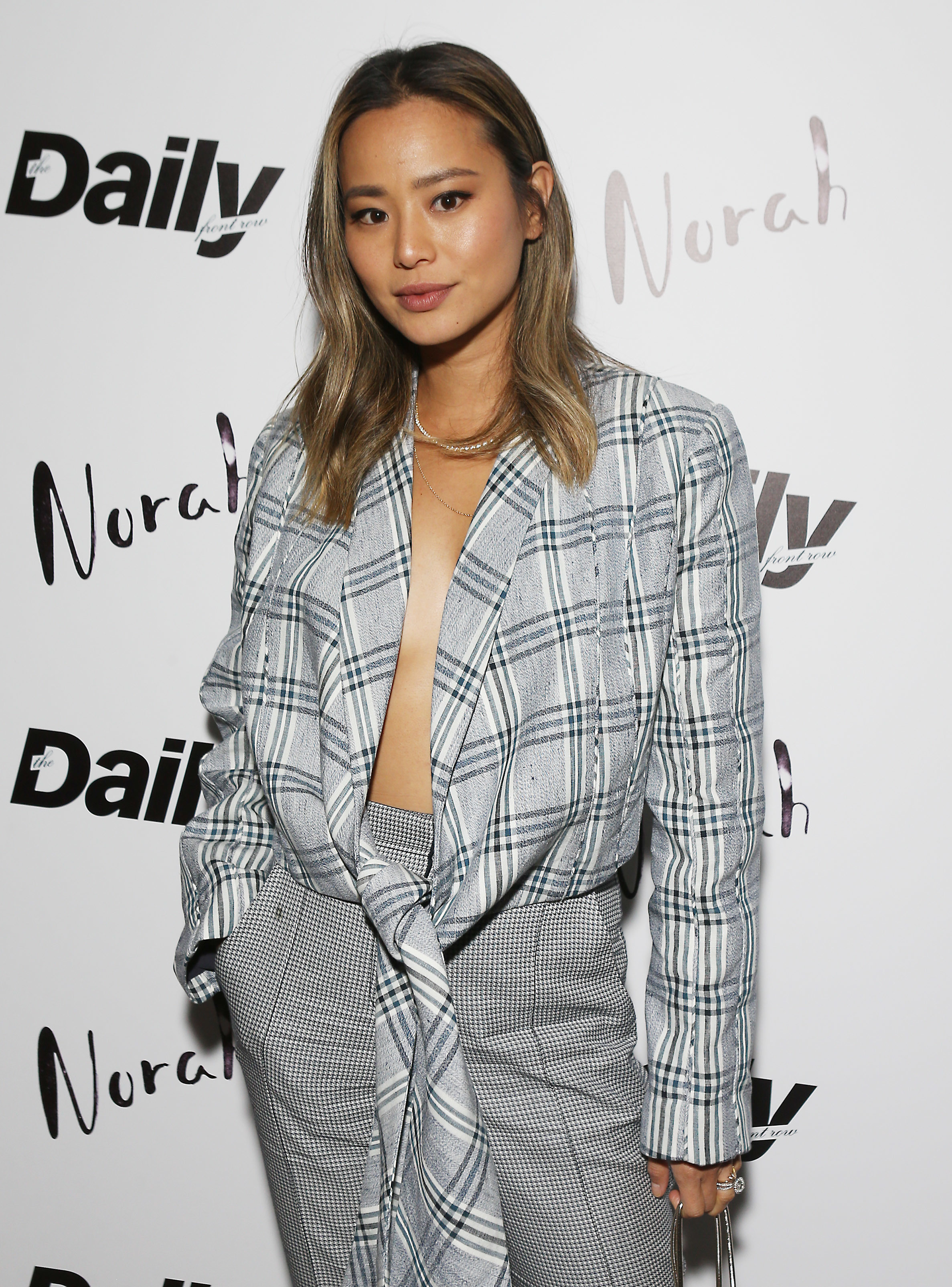Jamie Chung attends Norah's 3rd Anniversary party with Casamigos tequila in West Hollywood on March 28, 2019.