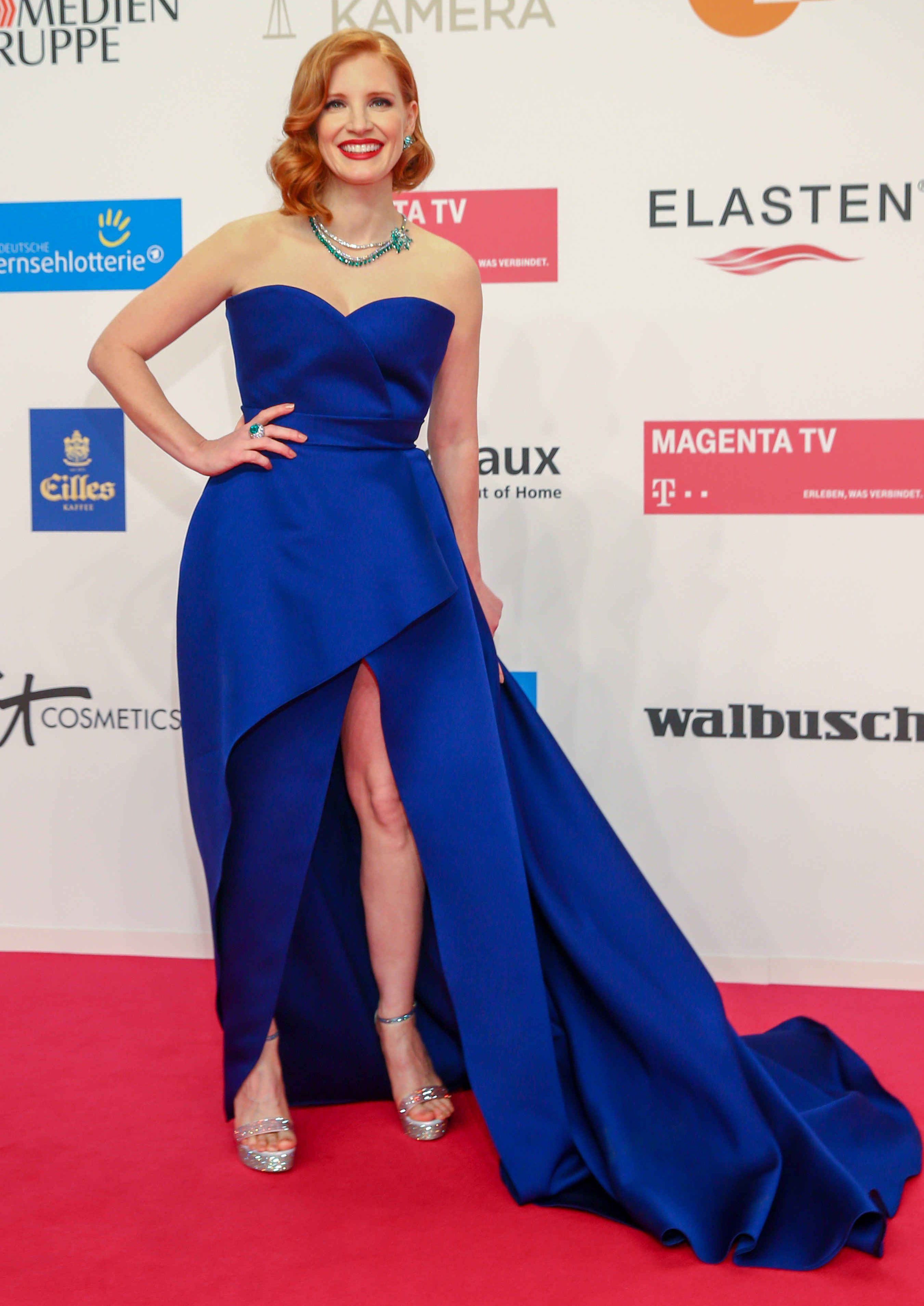 Jessica Chastain attends the Golden Camera Awards in Berlin, Germany, on March 30, 2019.