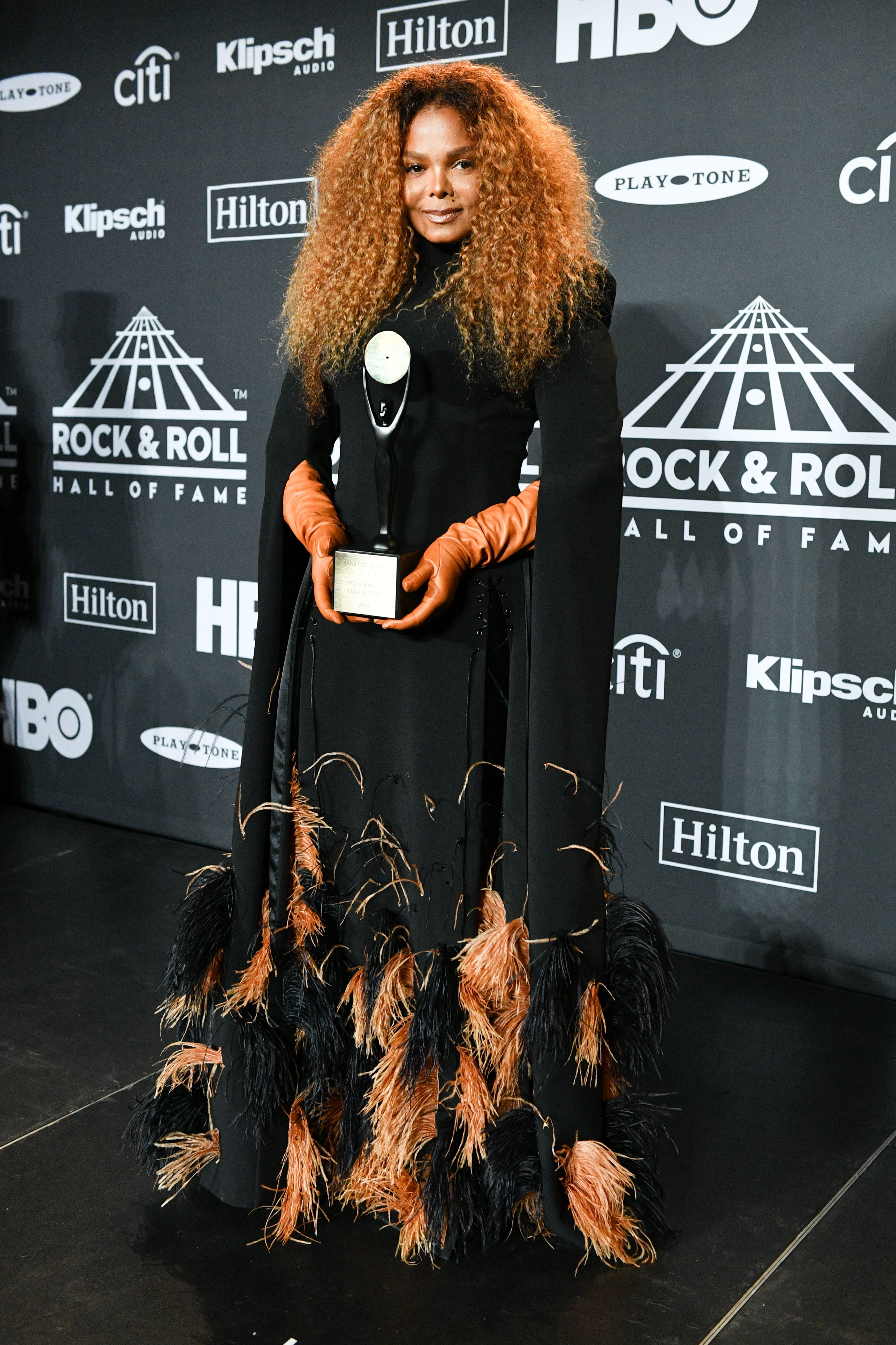 Janet Jackson  attends the Rock and Roll Hall of Fame Induction Ceremony in Brooklyn, New York, on March 29, 2019.