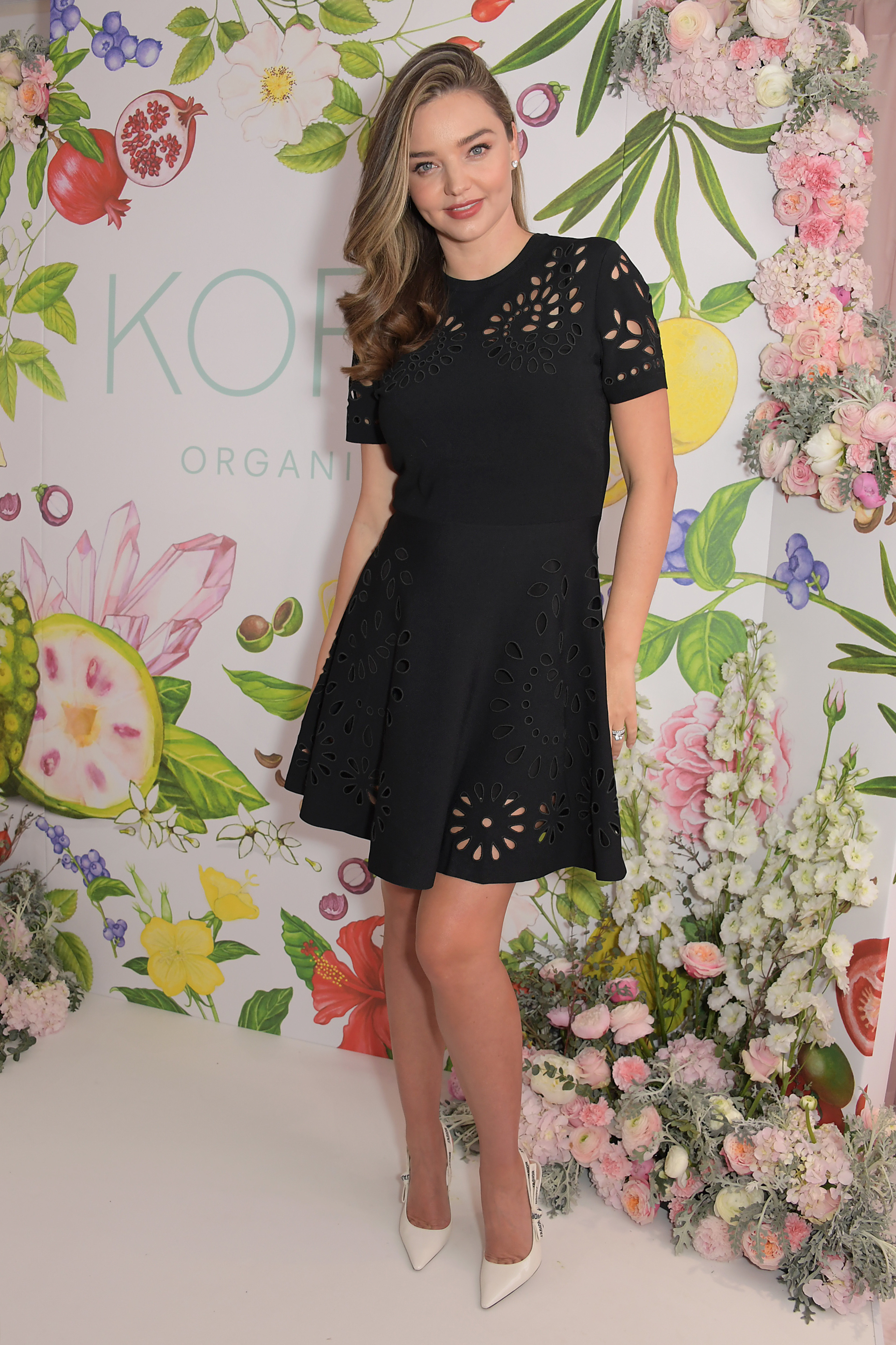 Miranda Kerr visits beauty retailer Space NK in London to celebrate the launch of Kora, her certified organic skincare line, in London on April 2, 2019.