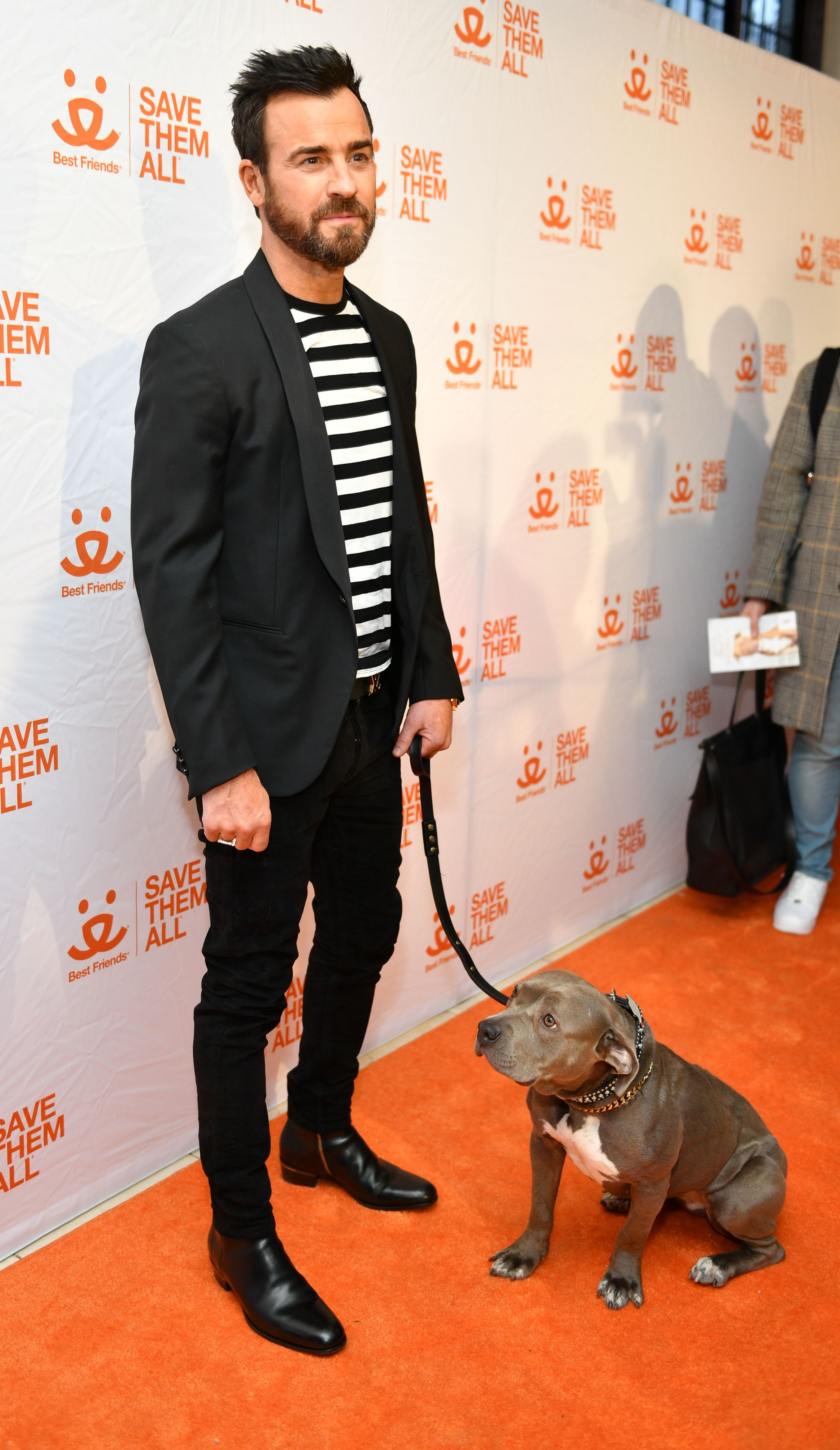 Justin Theroux attends the Animal Society Best Friends Benefit in New York City on April 2, 2019.