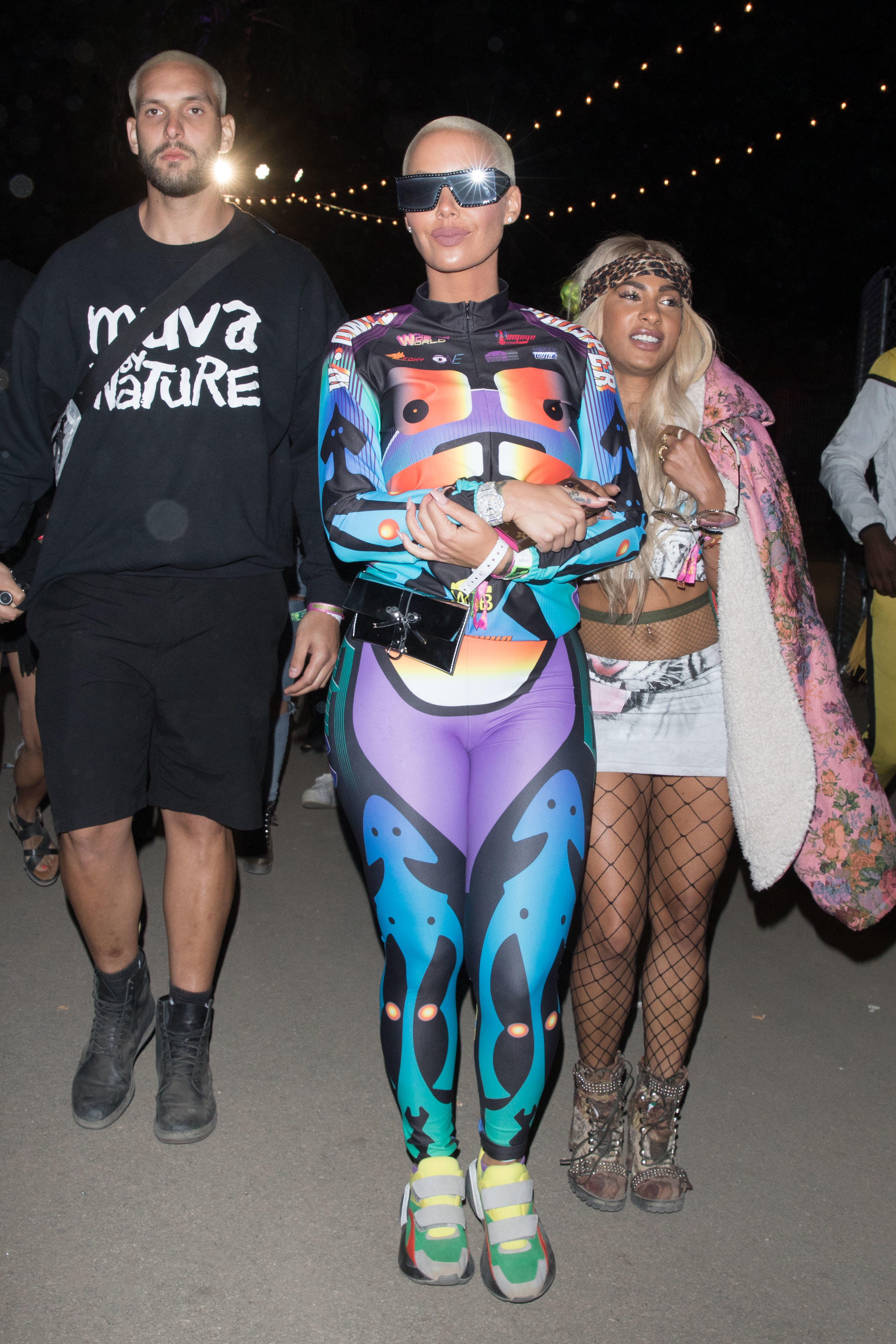 Amber Rose leaves the Neon Carnival during Coachella Weekend in Indio on April 14, 2018.