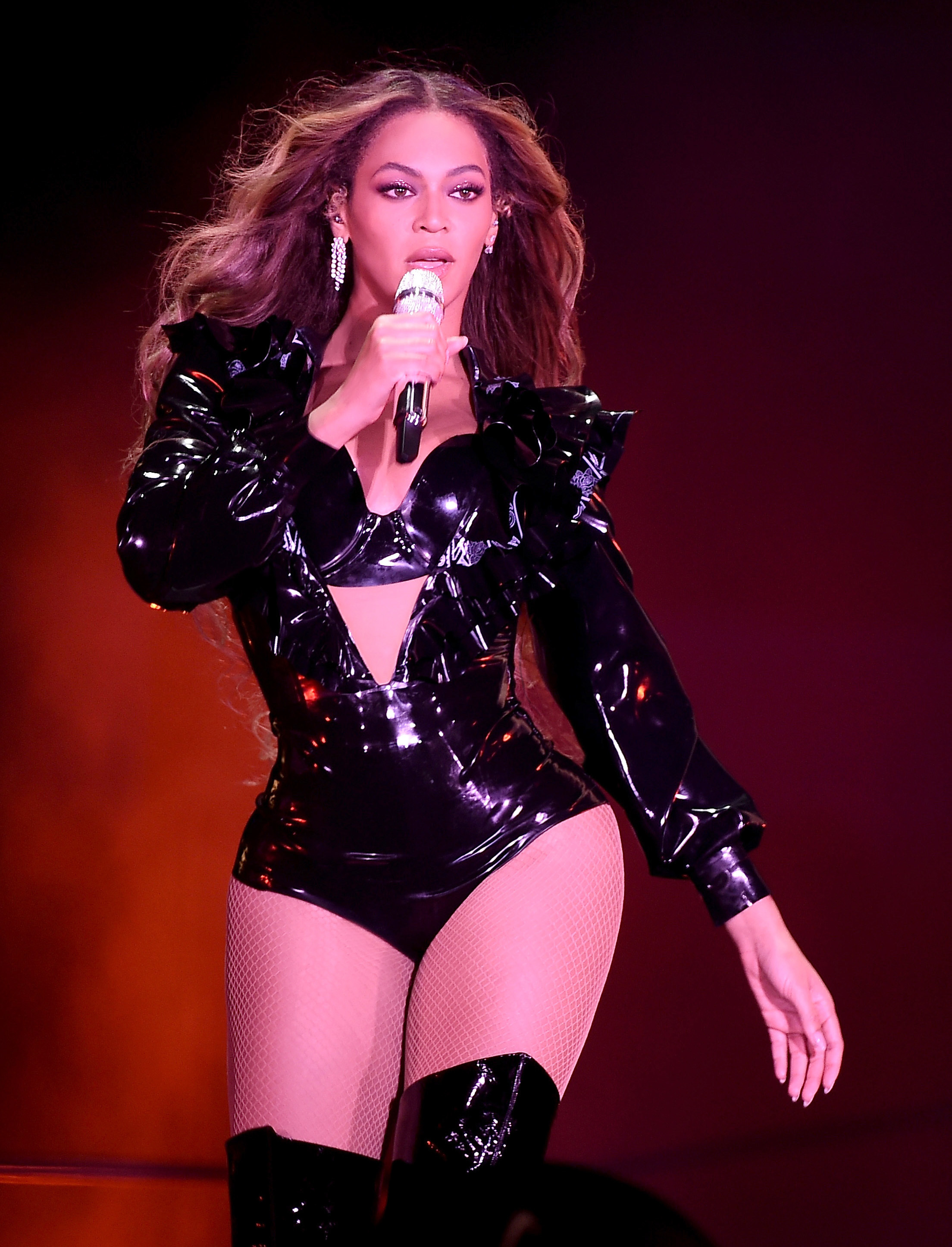 """Beyonce performs the """"On The Run II Tour"""" in Pasadena, Calif., on Sept. 23, 2018."""