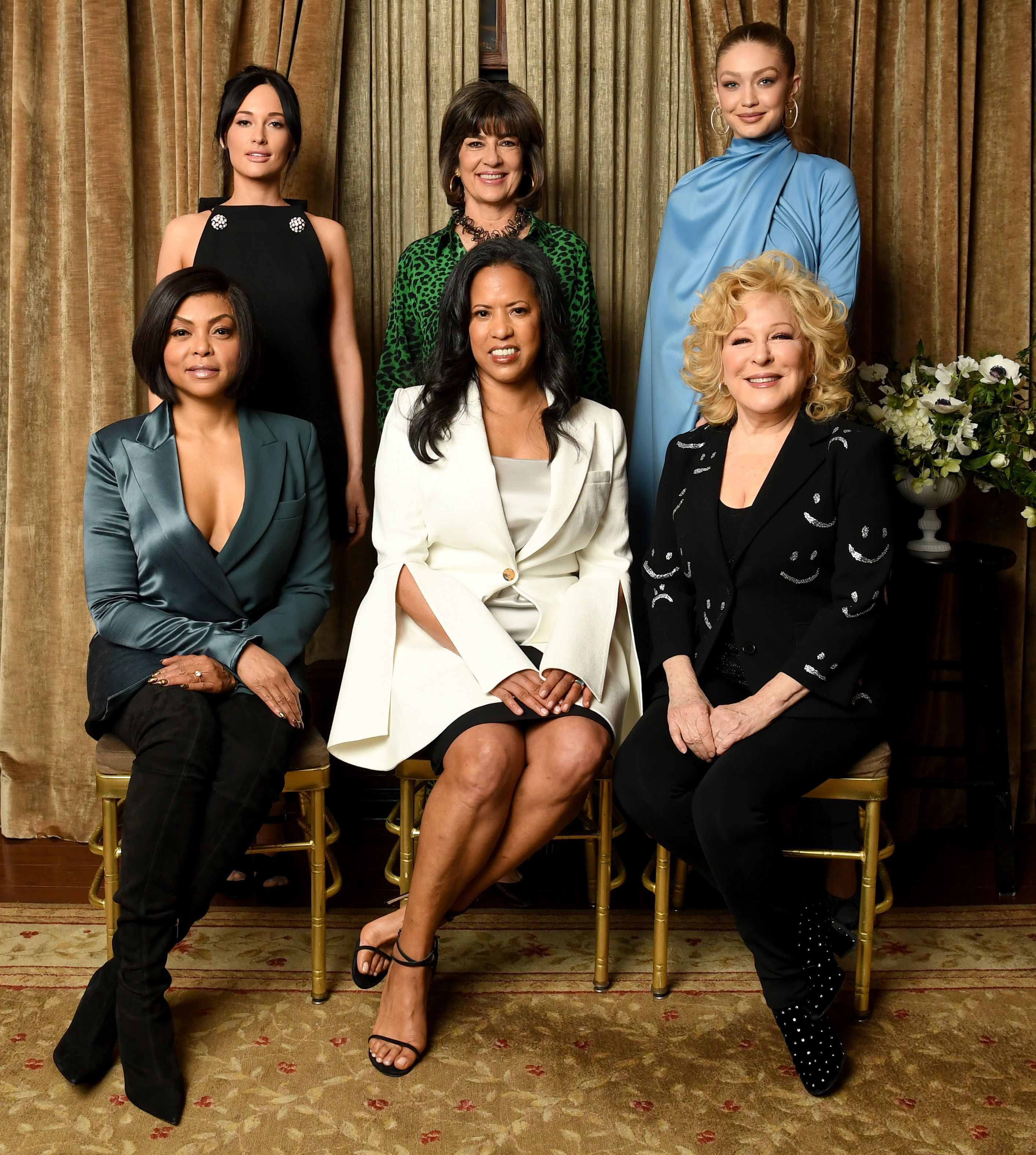 Kacey Musgraves, Taraji P. Henson, Christiane Amanpour, Michelle Ebanks, Bette Midler and Gigi Hadid attend Variety's Power of Women presented by Lifetime at Cipriani Midtown in New York City on April 5, 2019.
