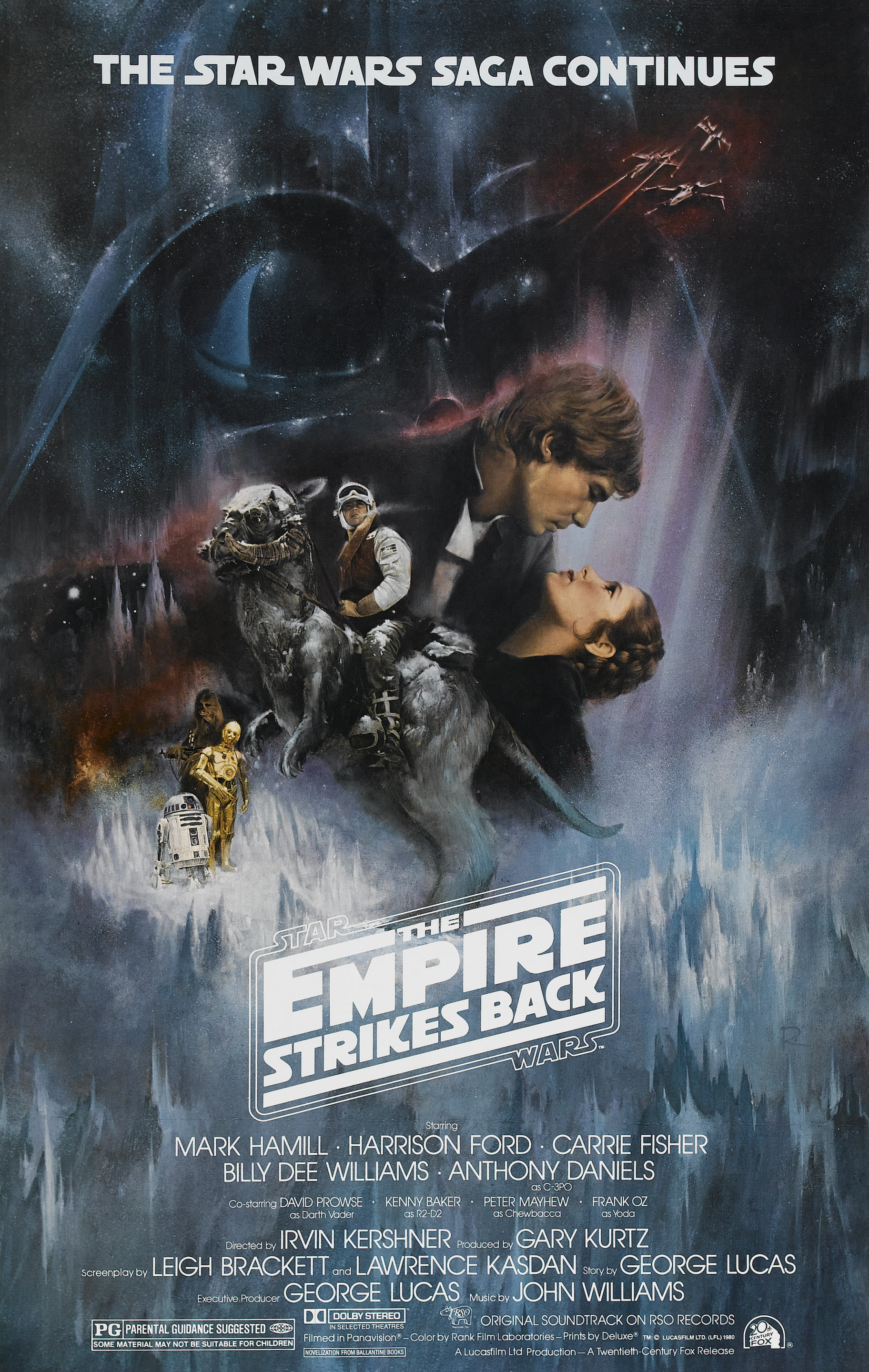 """Mark Hamill, Harrison Ford and Carrie Fisher appear on a movie poster for 1980's """"Star Wars: Episode V   The Empire Strikes Back."""""""
