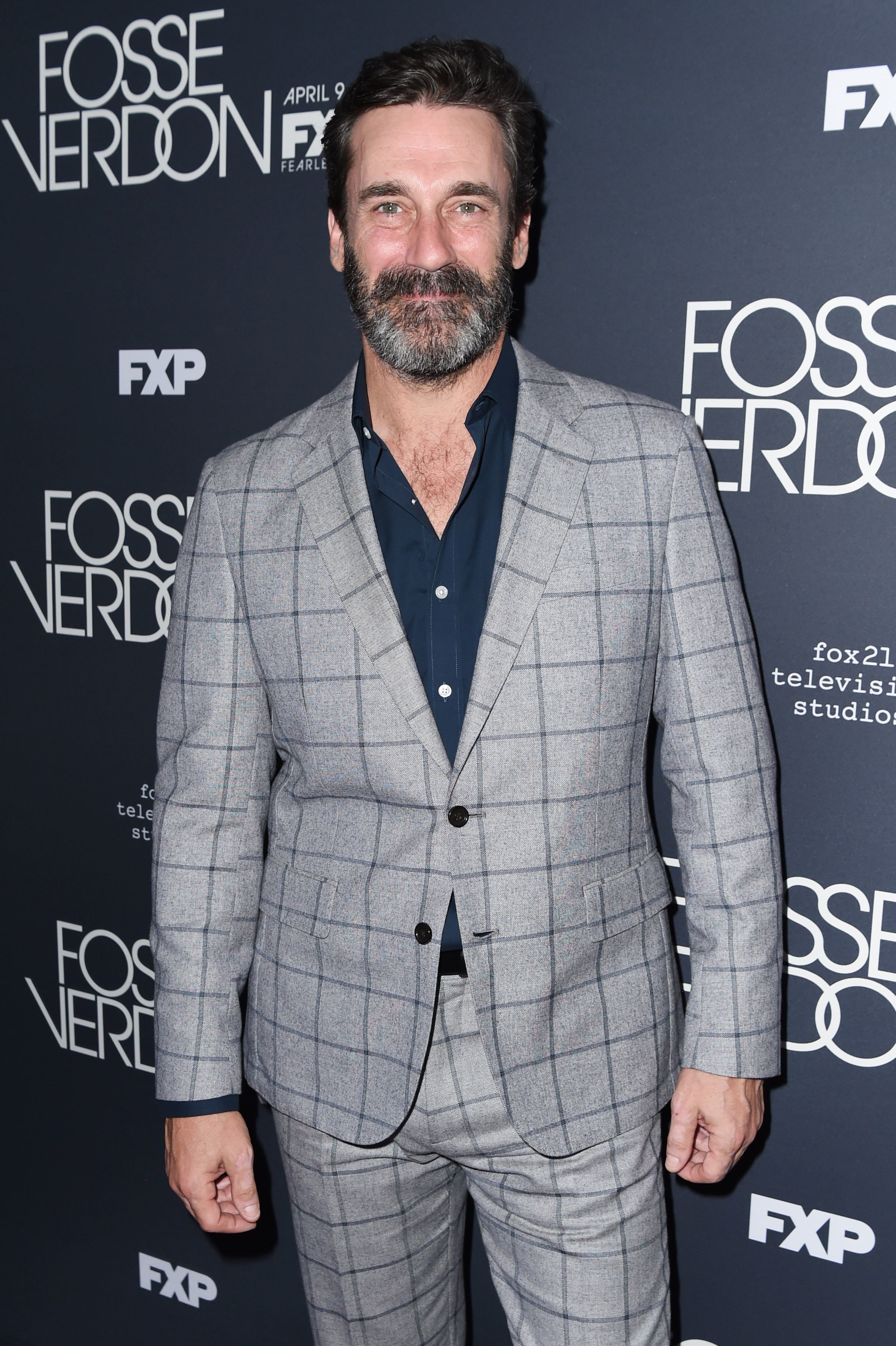 "Jon Hamm attends the ""Fosse/Verdon"" TV show premiere in New York City on April 8, 2019."