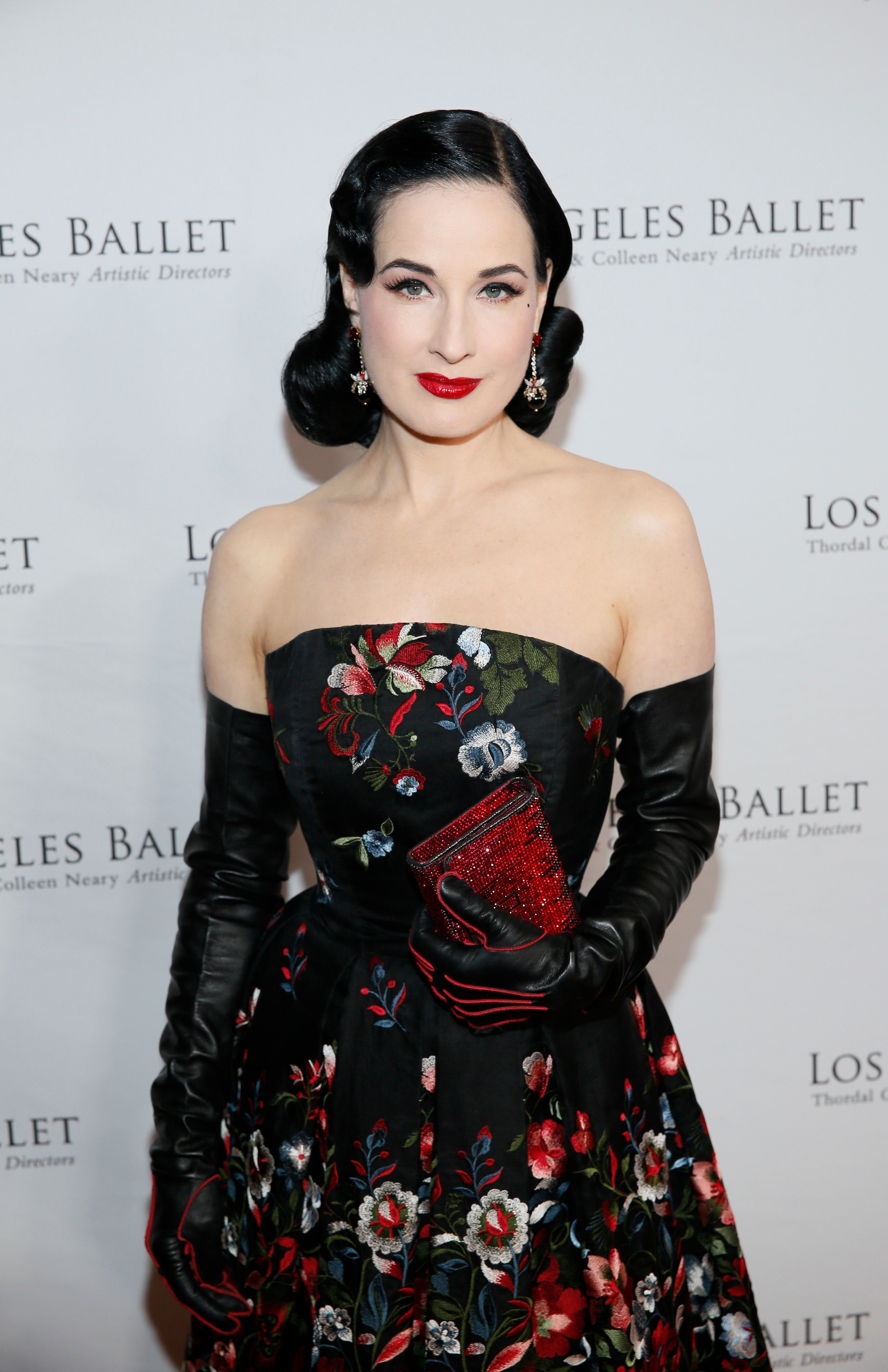 Dita Von Teese attends the Los Angeles Ballet Gala in Los Angeles on April 11, 2019.