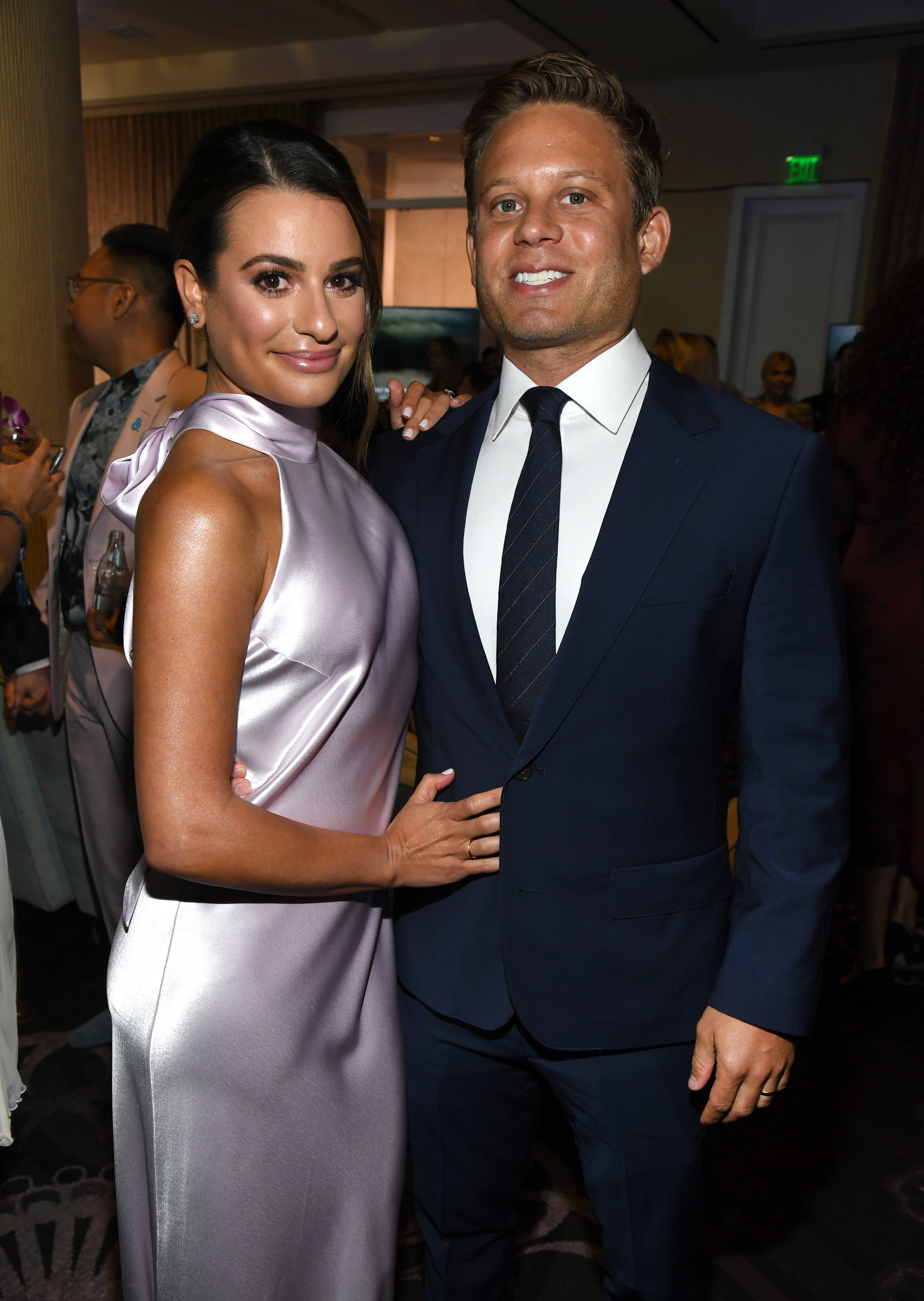 Lea Michele and Zandy Reich attend the 30th Annual GLAAD Media Awards Los Angeles at the Beverly Hilton hotel on March 28, 2019.