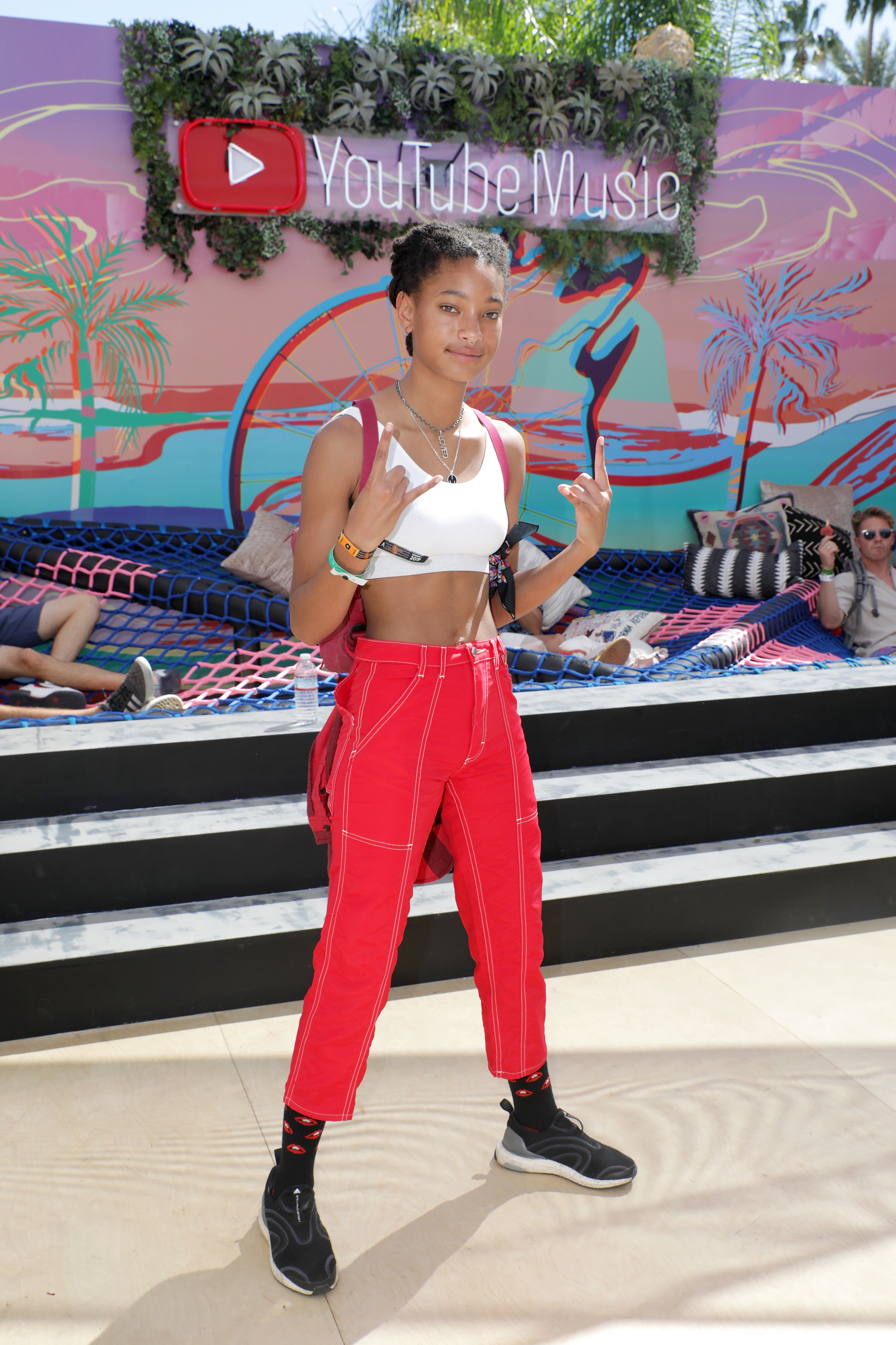 Willow Smith visits the YouTube Music Artist Lounge at Coachella in Indio, California, on April 13, 2019.