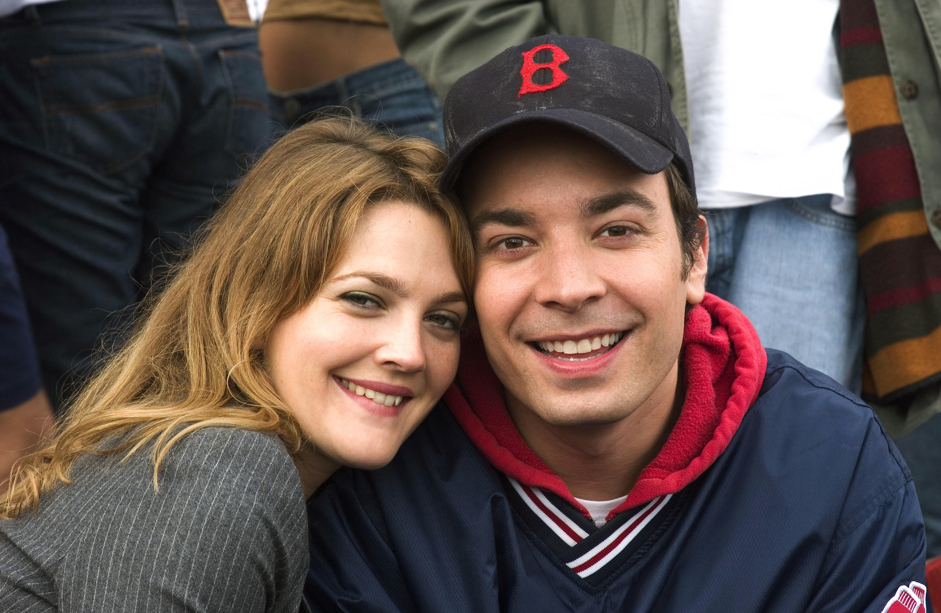 "Drew Barrymore and Jimmy Fallon star in 2005's ""Fever Pitch."""