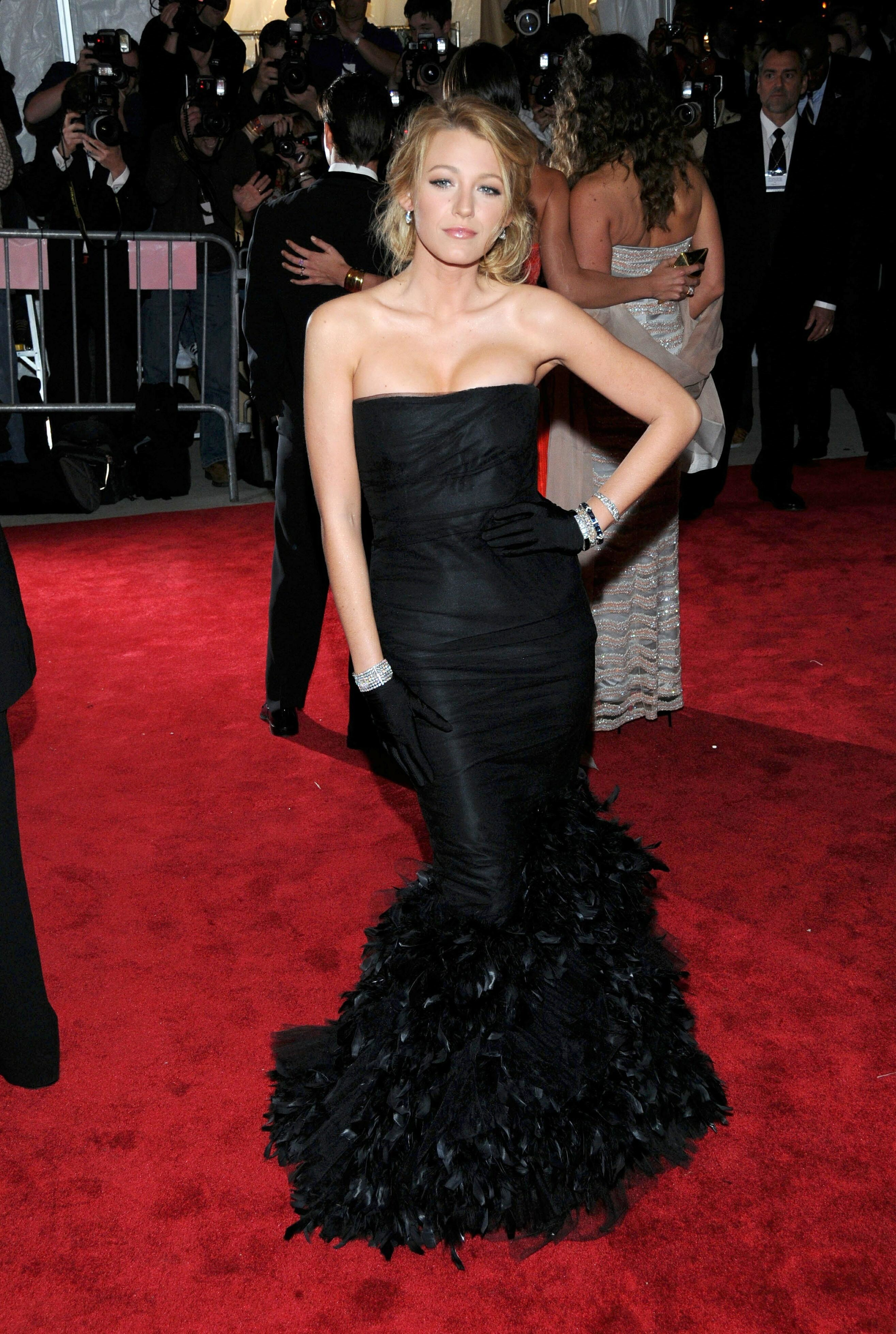 """Blake Lively attends """"Superheroes: Fashion and Fantasy"""" Costume Institute Gala at the Metropolitan Museum of Art in New York City on May 5, 2008."""