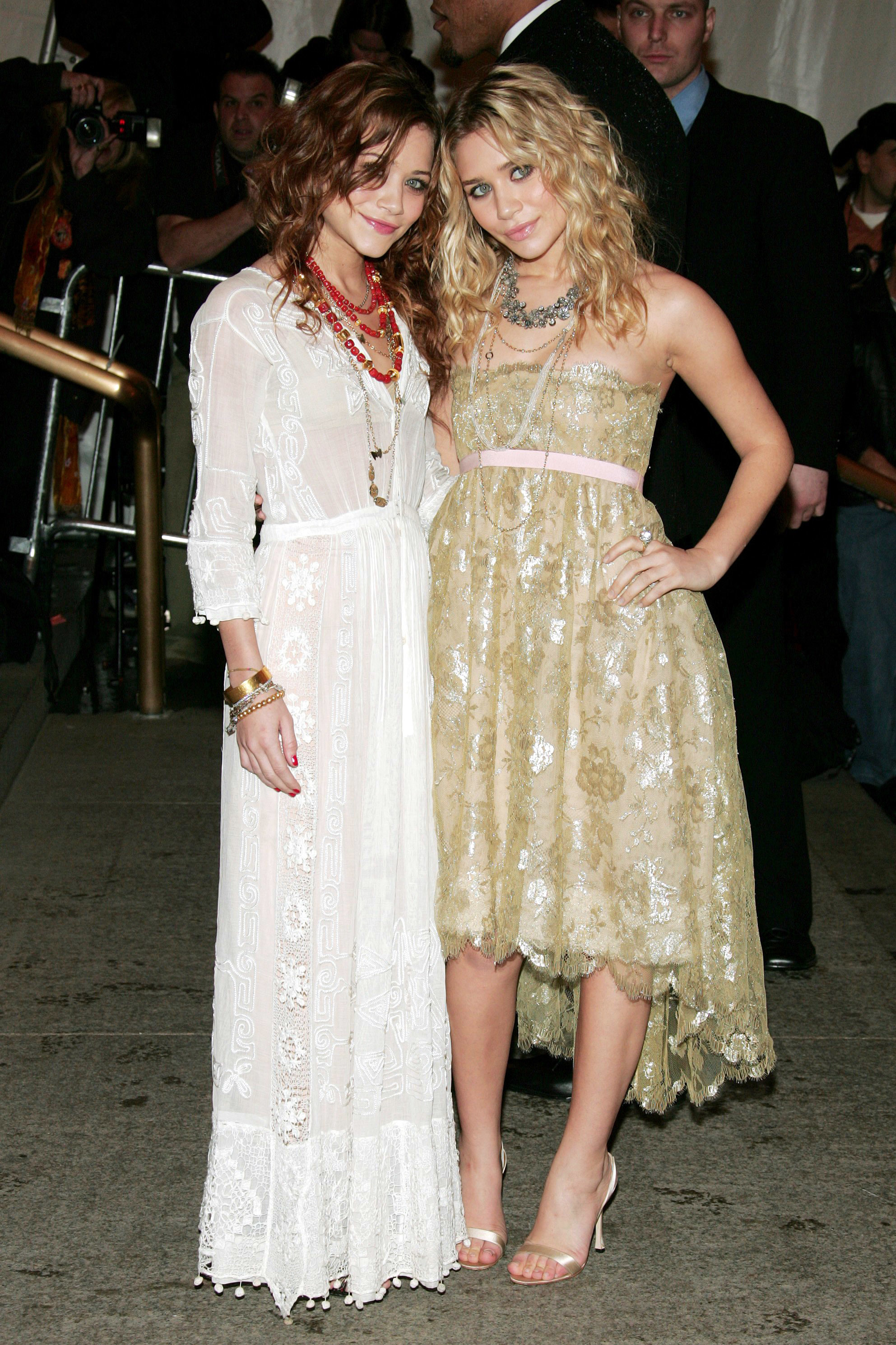 """Mary Kate Olsen and Ashley Olsen attend """"The House of Chanel"""" Costume Institute Gala at the Metropolitan Museum of Art in New York City on May 2, 2005."""