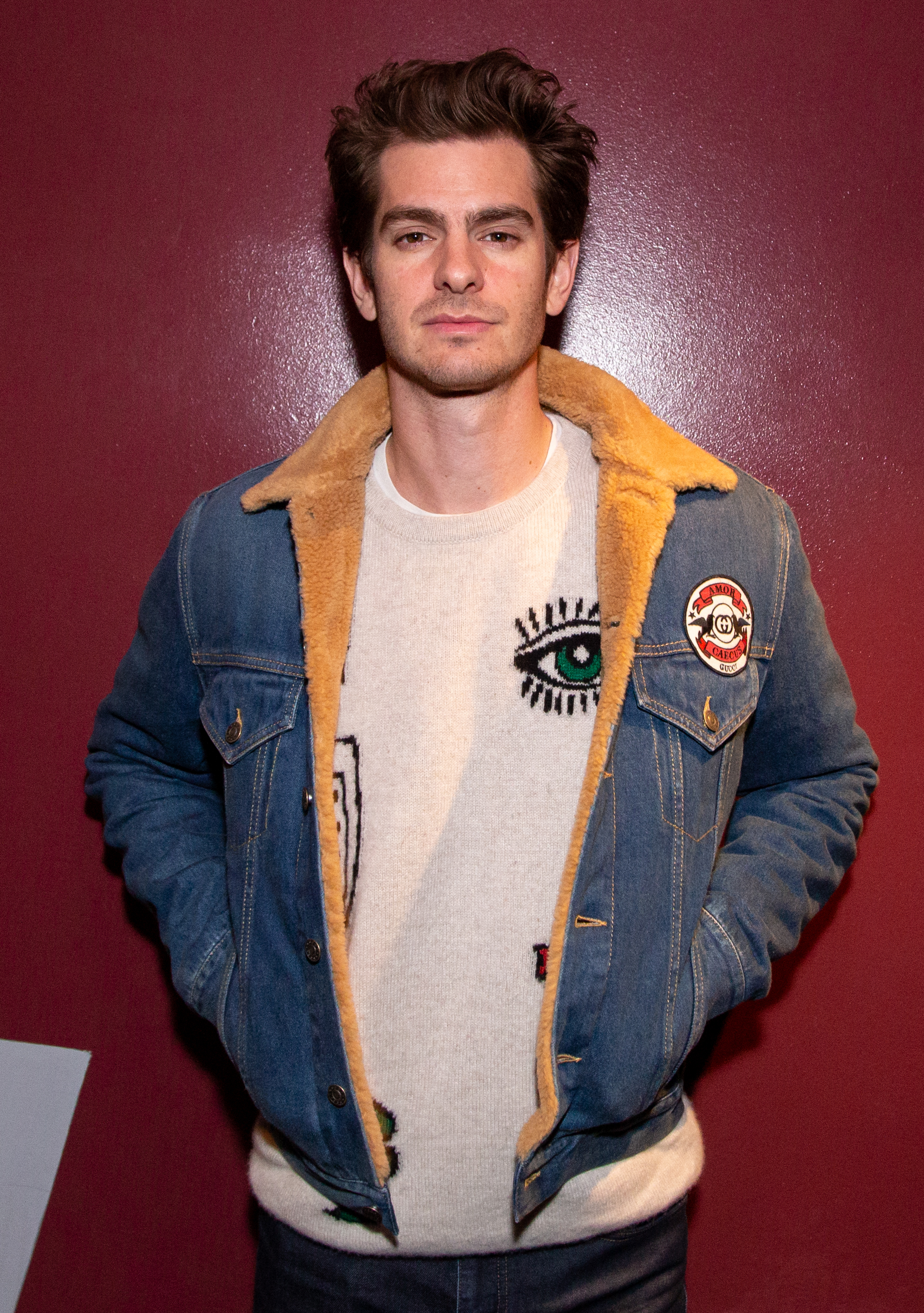 "Andrew Garfield attends The Aero Theatre hosts ""The Social Network"" Los Angeles Screening and Q&A at Aero Theatre in Santa Monica, California, on April 15, 2019."