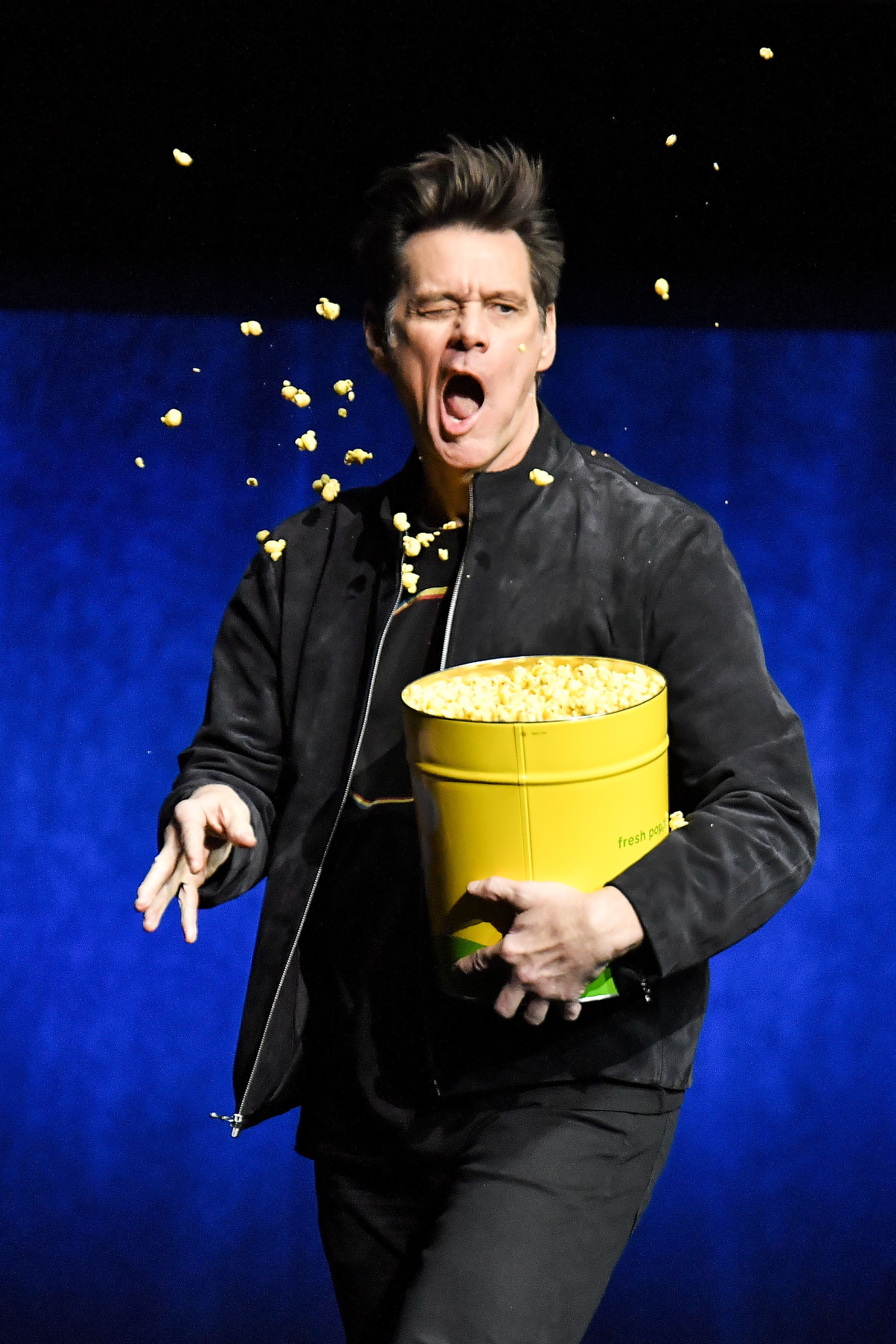 Jim Carrey attends CinemaCon in Las Vegas on April 4, 2019.