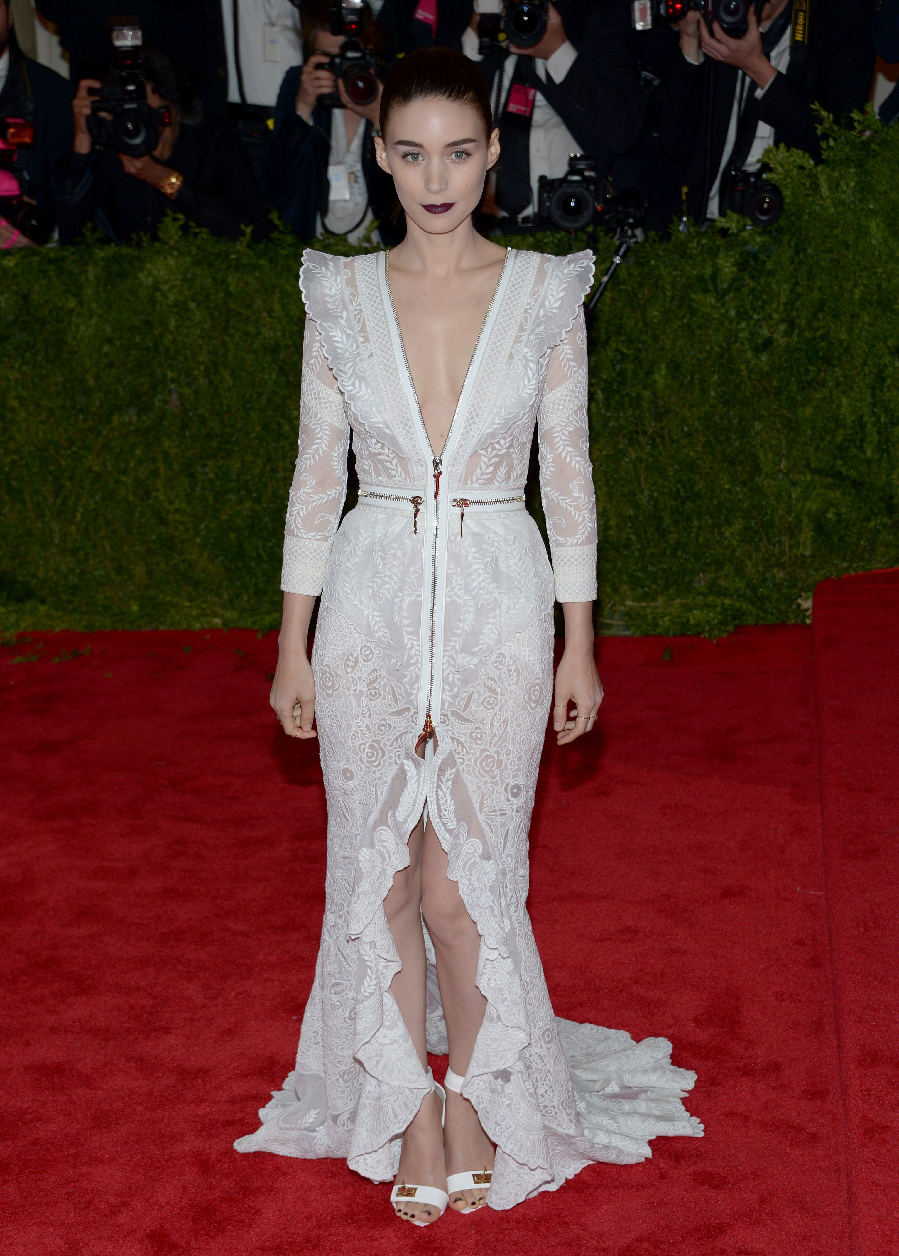 Rooney Mara attends the Metropolitan Museum of Art's Costume Institute Gala in New York City on May 6, 2013.