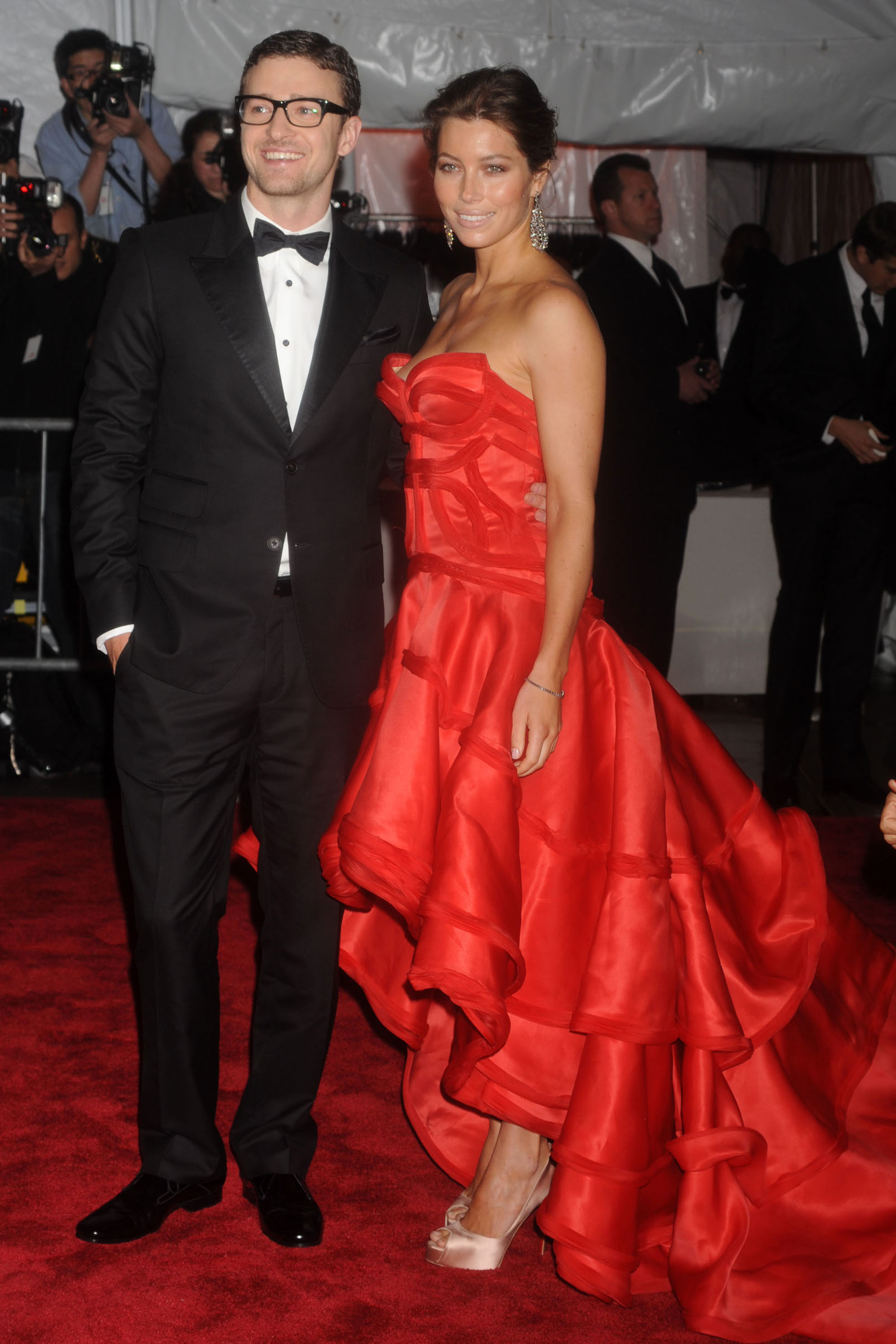 Justin Timberlake and Jessica Biel attend the Costume Institute Gala at the Metropolitan Museum of Art in New York City on May 4, 2009.