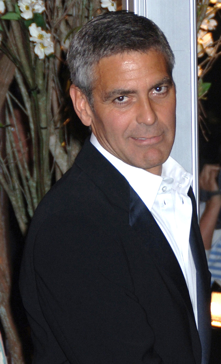 George Clooney attends the Metropolitan Museum of Art Costume Institute Gala in New York City on May 5, 2008.