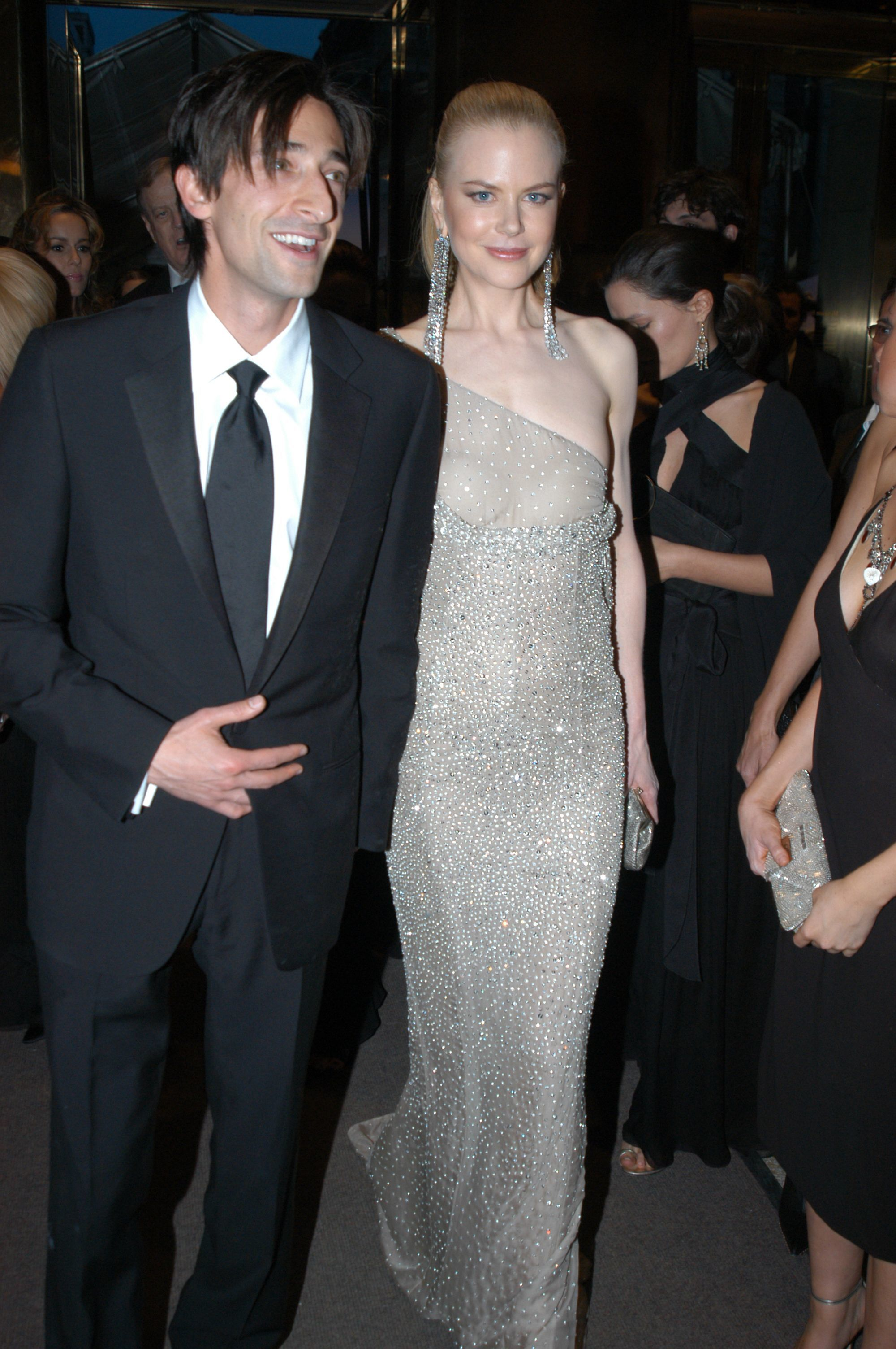 Adrien Brody and Nicole Kidman attend the Costume Institute Benefit Gala: 'Party of the Year' at the Metropolitan Museum of Art in New York City on April 28, 2003.