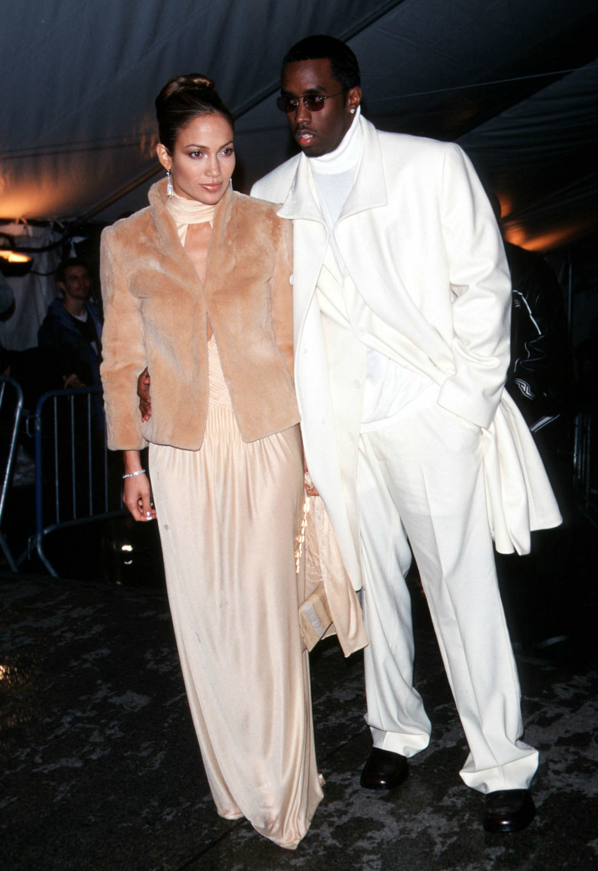 """Jennifer Lopez and Diddy attend """"Rock Style"""" Costume Institute Gala at the Metropolitan Museum of Art in New York City on Dec. 6, 1999."""