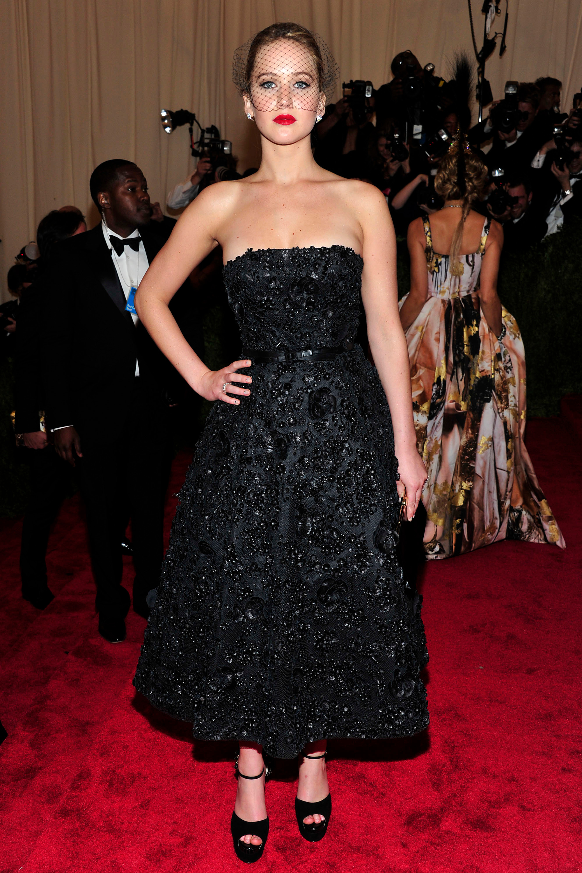 """Jennifer Lawrence attends """"PUNK: Chaos to Couture"""" Costume Institute Gala at the Metropolitan Museum of Art in New York City on May 9, 2013."""