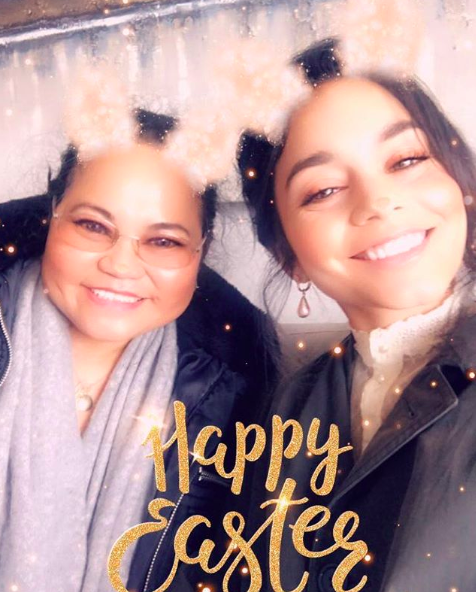 """Happy Easter loves""    Vanessa Hudgens"