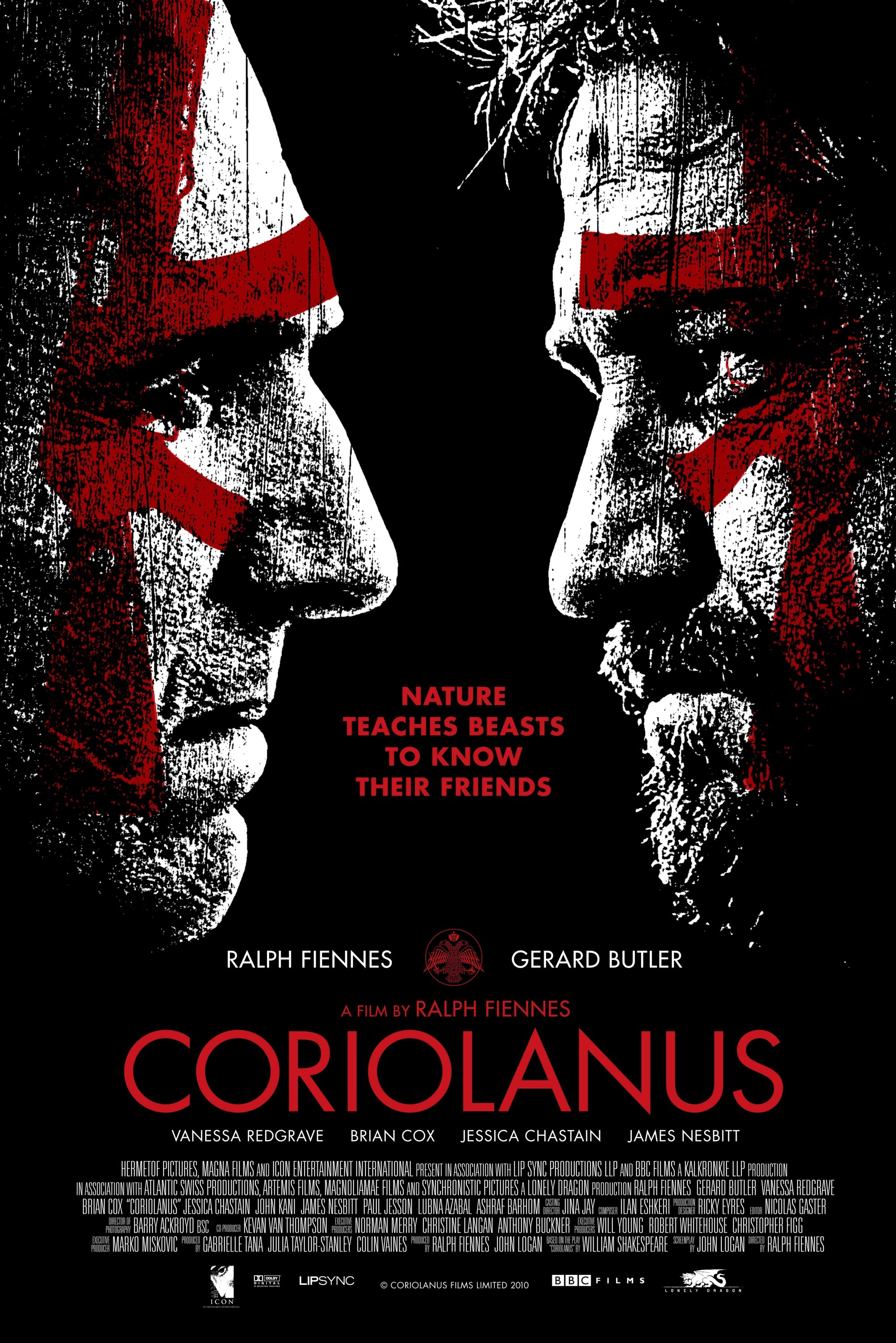 "Ralph Fiennes and Gerard Butler in 2011's ""Coriolanus."""