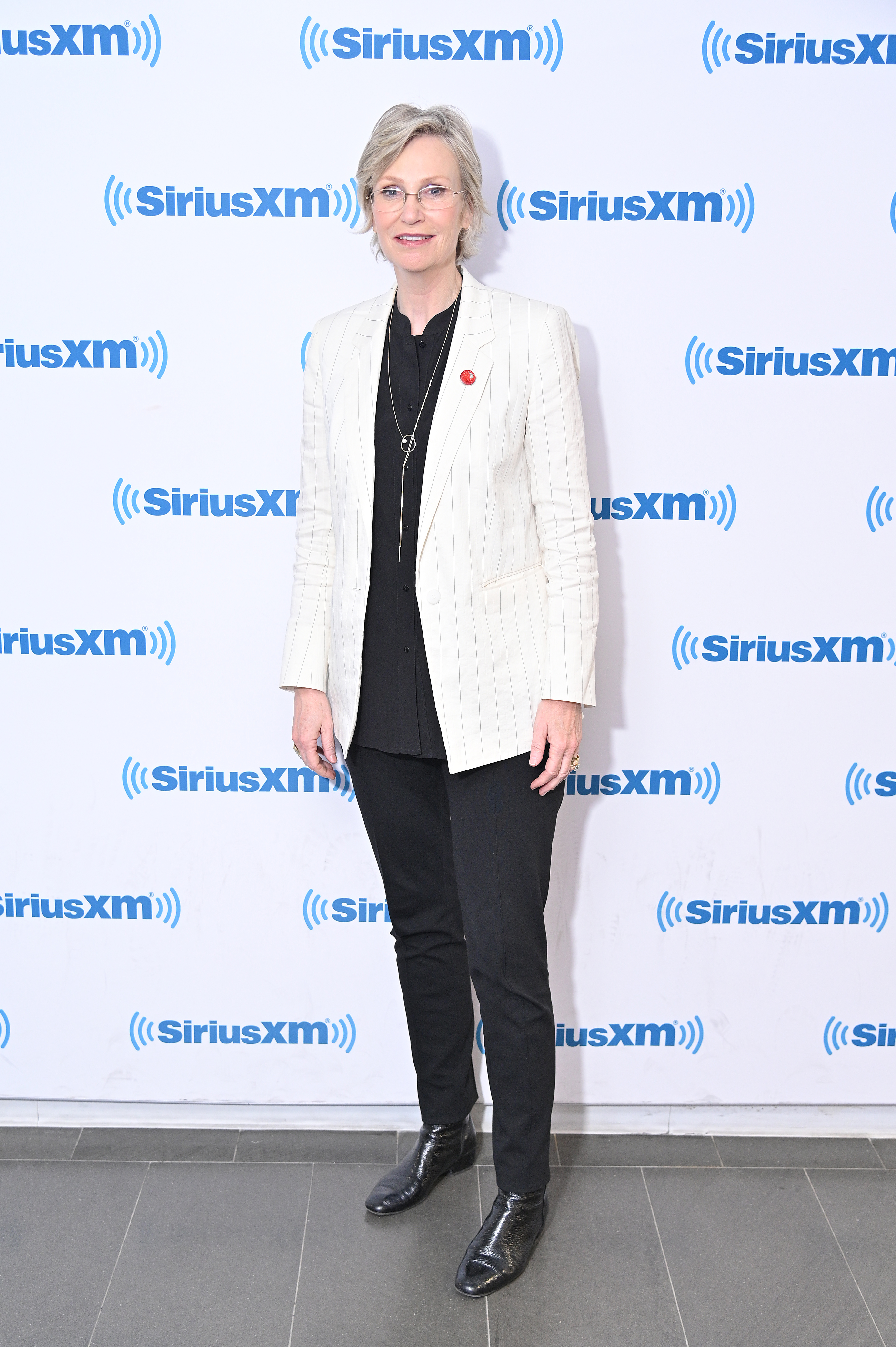 Jane Lynch visits SiriusXM Studios in New York City on April 22, 2019.