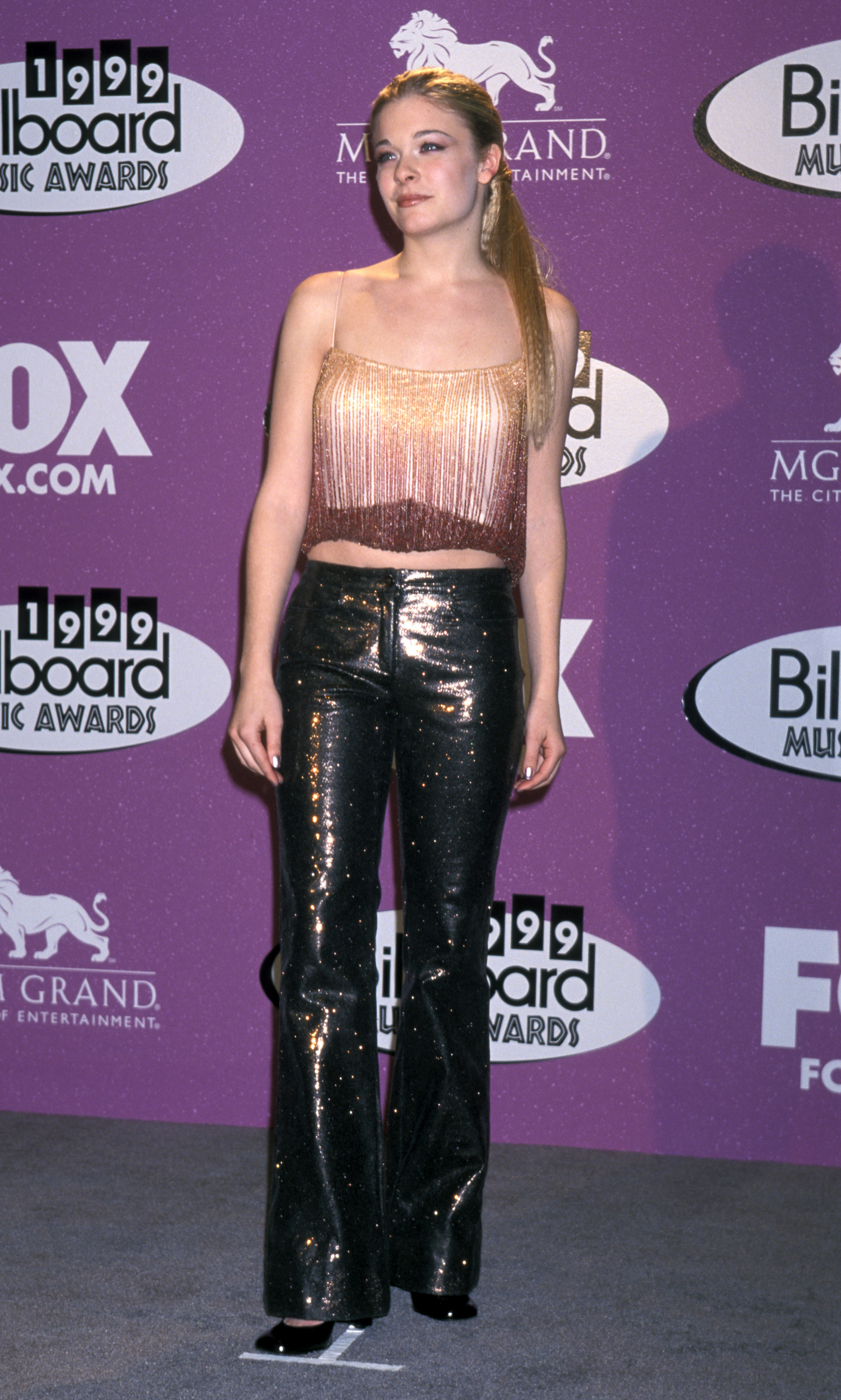 LeAnn Rimes is pictured at the 10th Annual Billboard Music Awards at MGM Grand Hotel in Las Vegas, Nevada on Dec. 8, 1999.