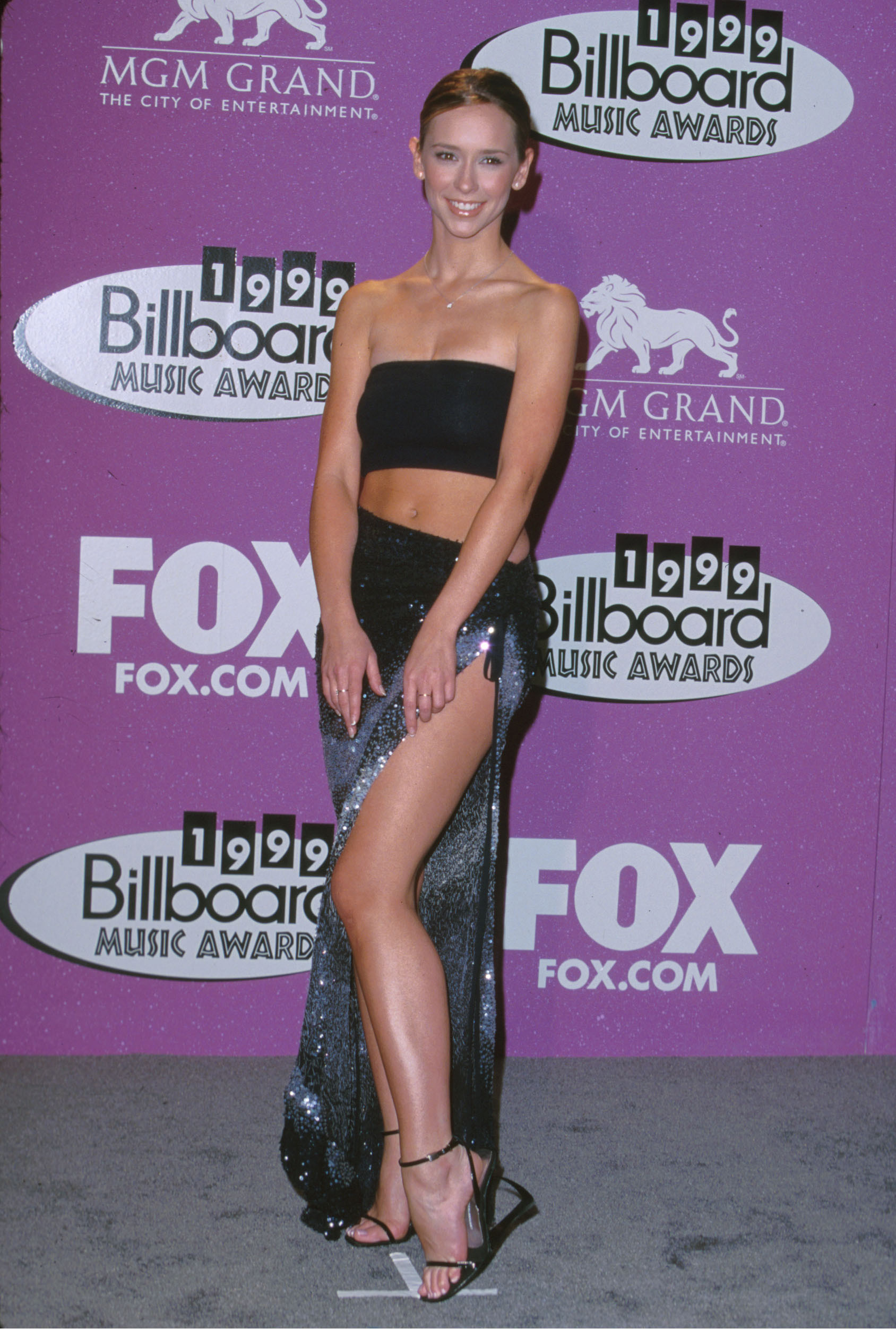 Jennifer Love Hewitt is pictured at the 10th Annual Billboard Music Awards at MGM Grand Hotel in Las Vegas, Nevada on Dec. 8, 1999.