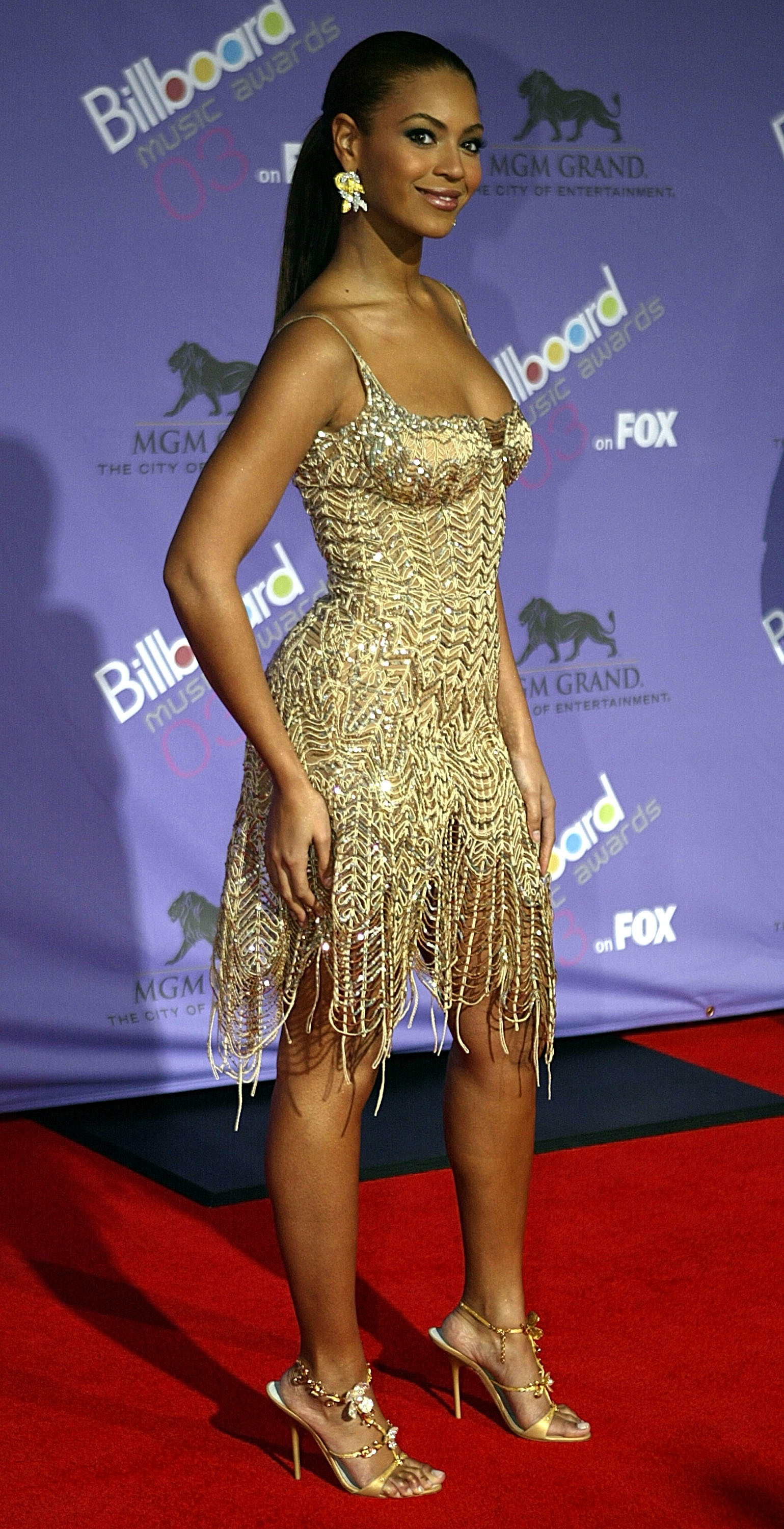 Beyonce Knowles attends the 2003 Billboard Music Awards at the MGM Grand Garden Arena in Las Vegas on Dec. 10, 2003.