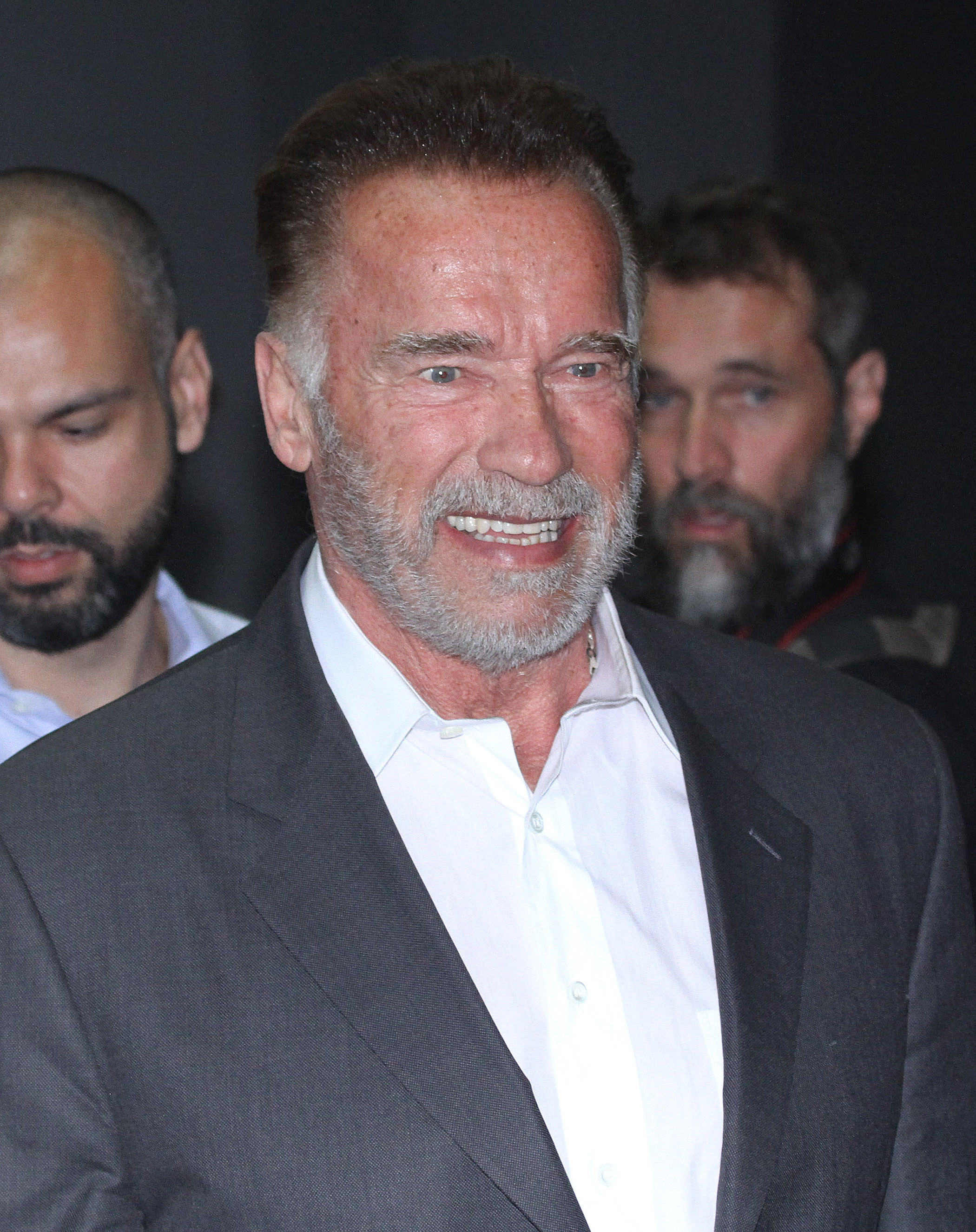 Arnold Schwarzenegger meets the Governor of Sao Paulo, Brazil, on April 14, 2019.