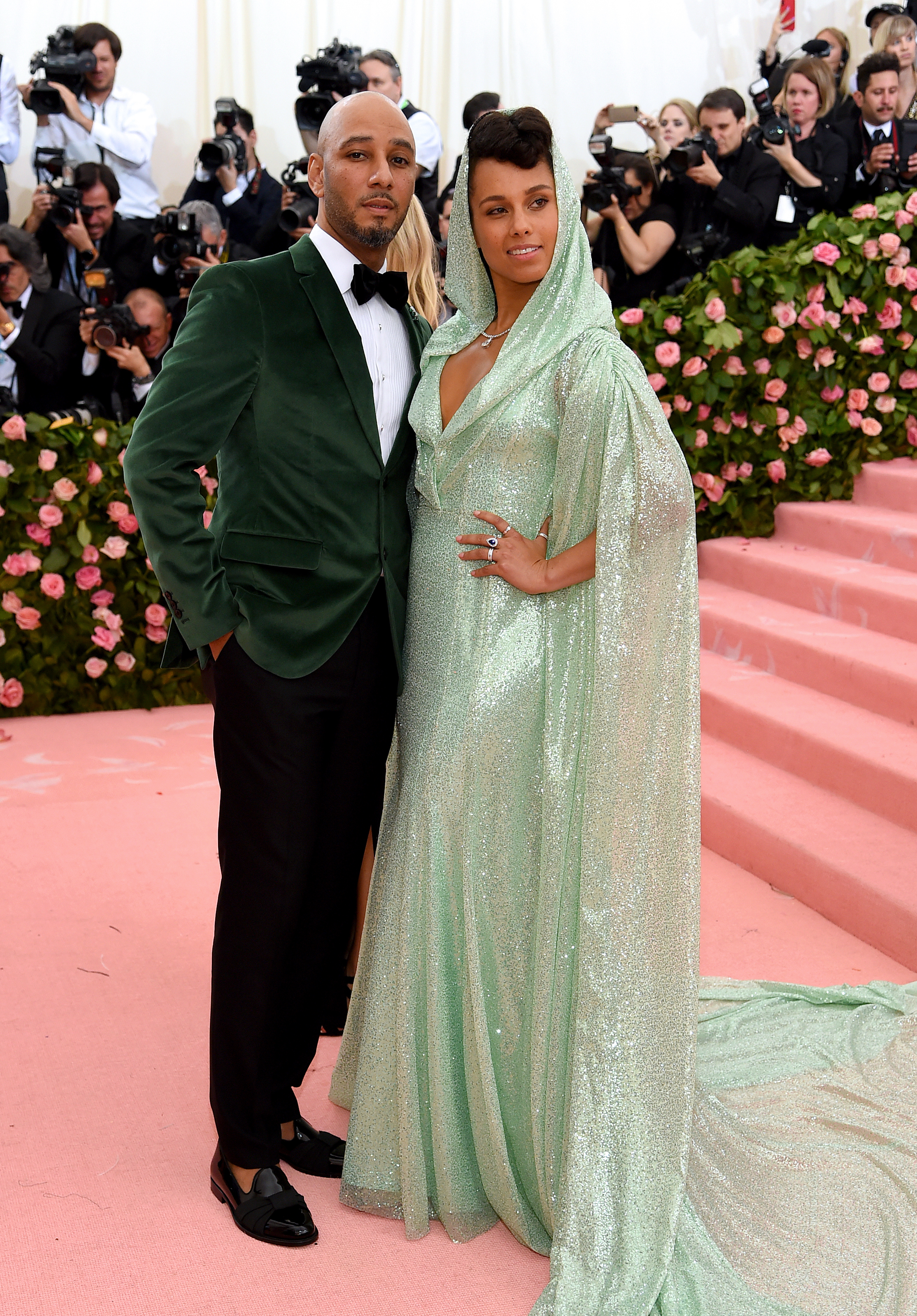 """Swizz Beatz and Alicia Keys attend the Costume Institute Benefit celebrating the opening of """"Camp: Notes on Fashion"""" at The Metropolitan Museum of Art in New York City on May 6, 2019."""
