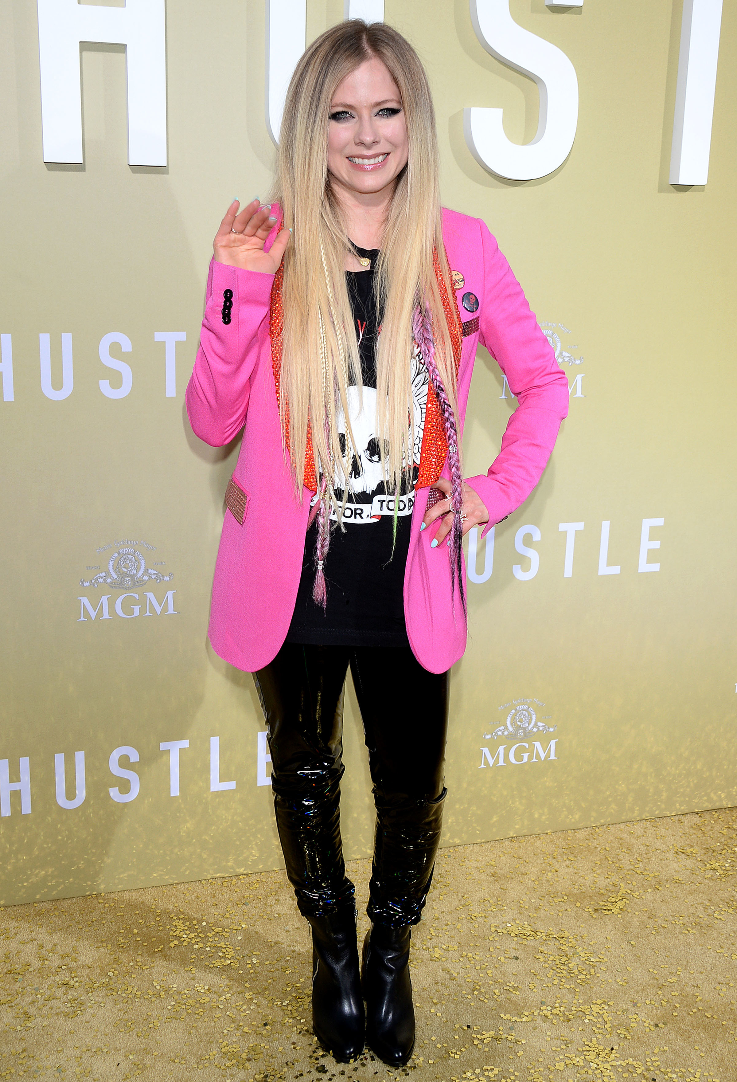 """Avril Lavigne attends """"The Hustle"""" film premiere in Los Angeles on May 8, 2019."""