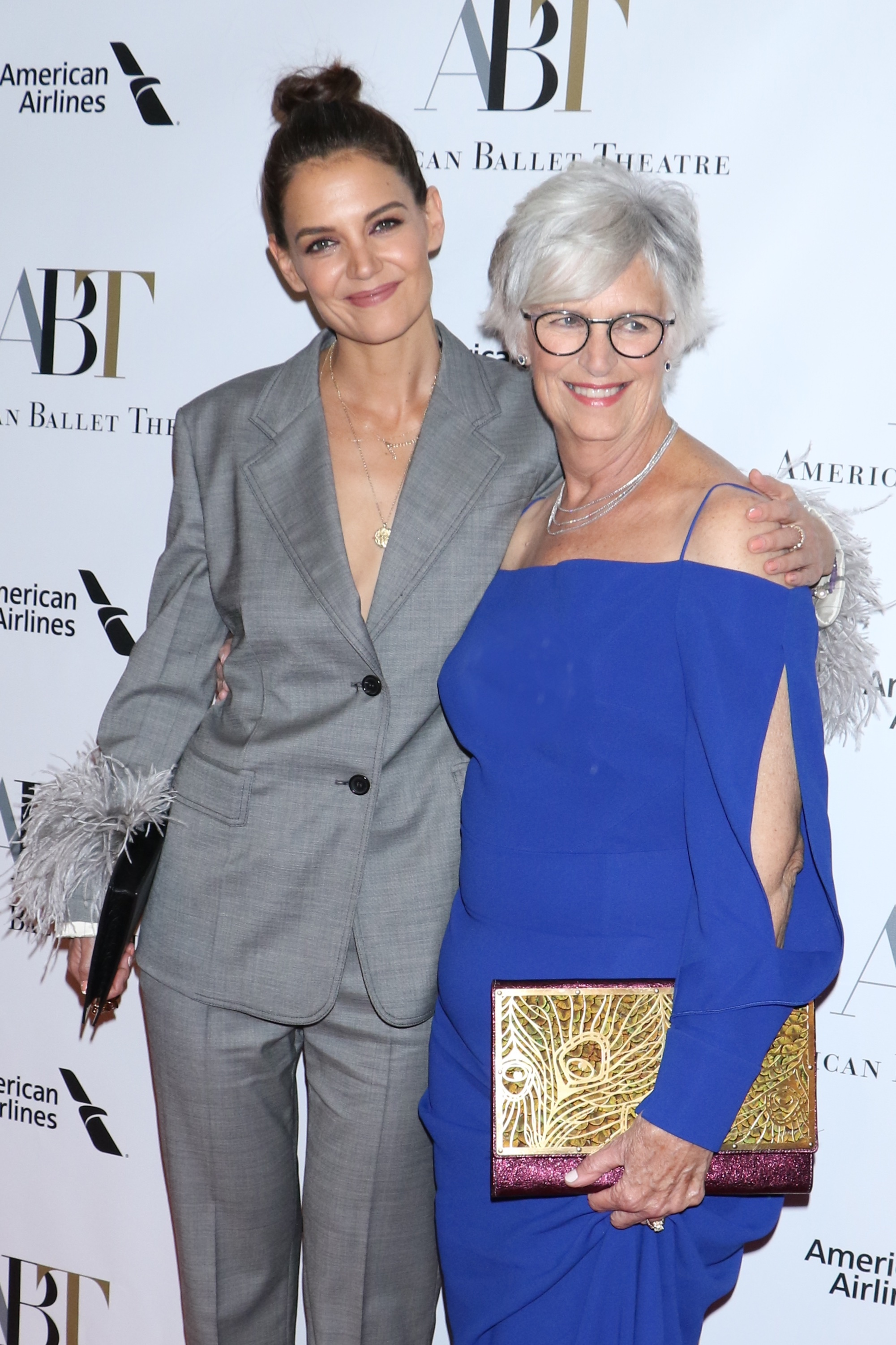 Katie Holmes and Kathleen Holmes attend the American Ballet Theatre Gala in New York City on Oct. 17, 2018.